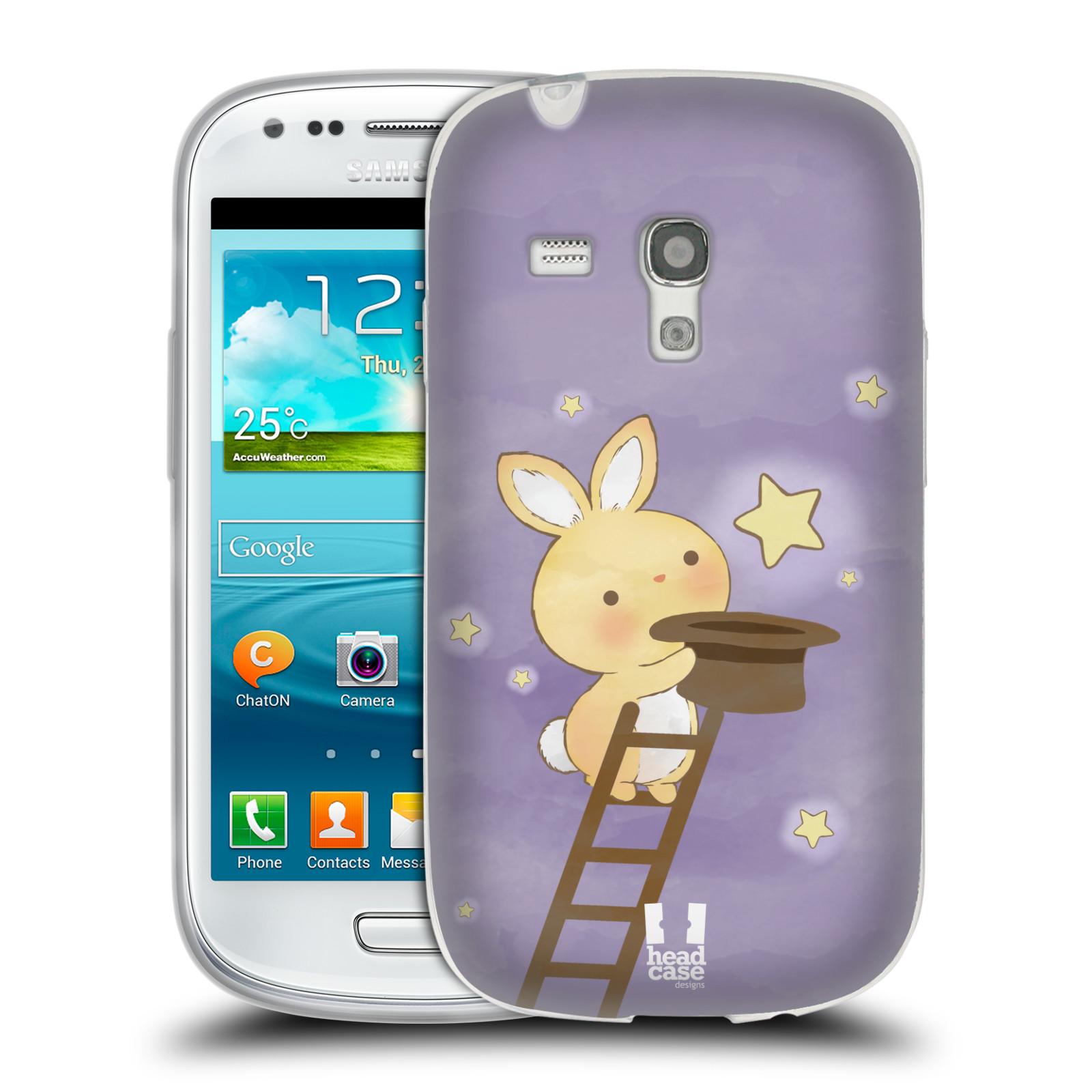 HEAD CASE silikonový obal na mobil Samsung Galaxy S3 MINI i8190 vzor králíček a hvězdy fialová
