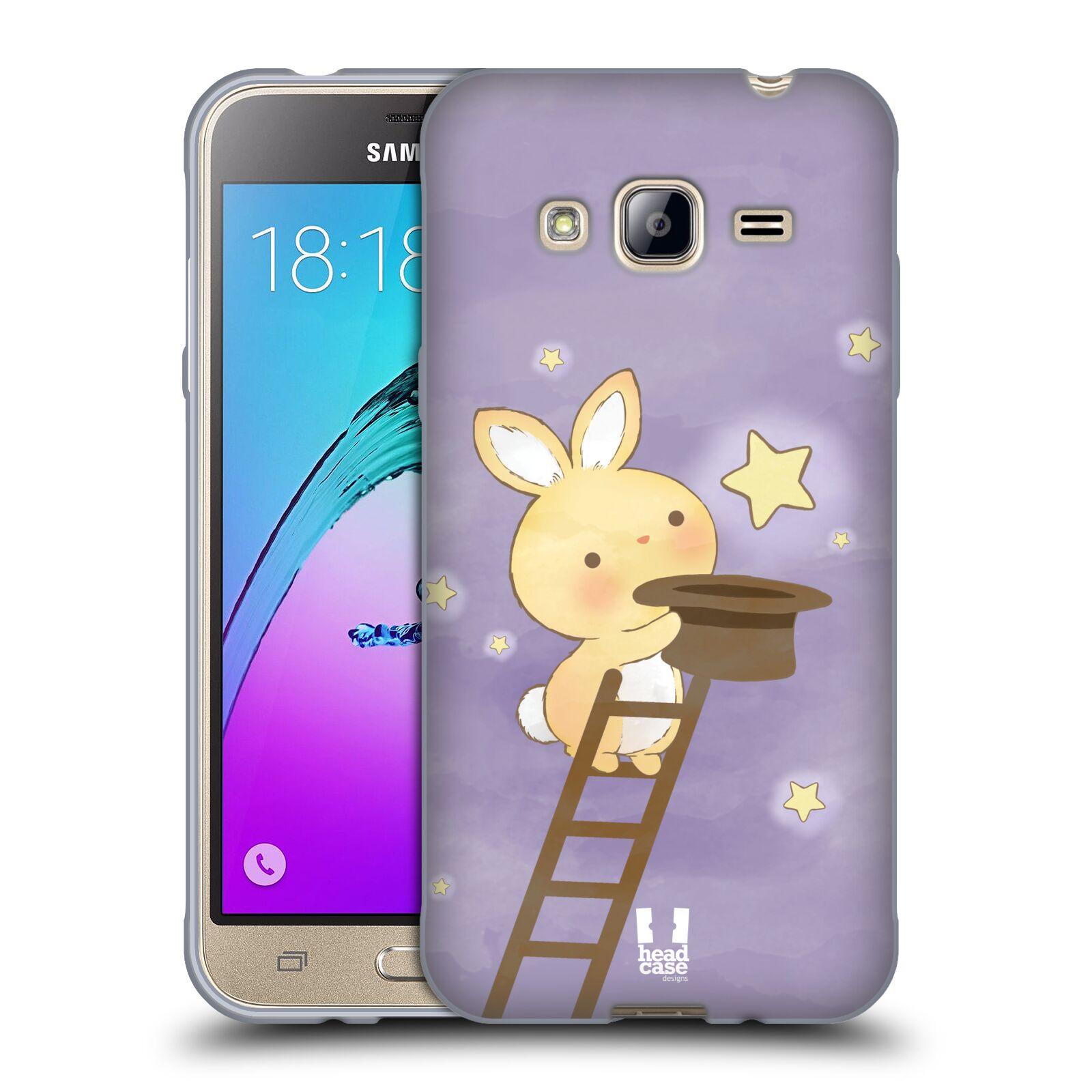 HEAD CASE silikonový obal na mobil Samsung Galaxy J3, J3 2016 vzor králíček a hvězdy fialová