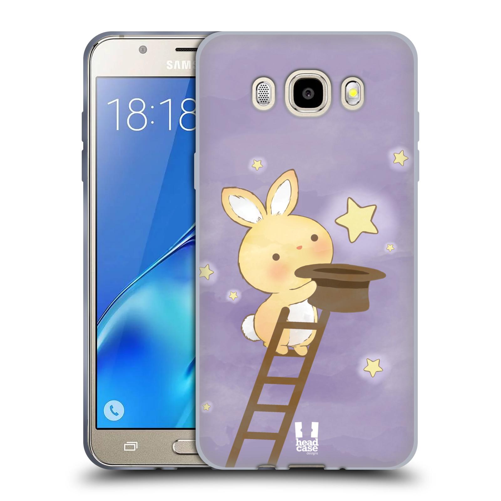 HEAD CASE silikonový obal, kryt na mobil Samsung Galaxy J5 2016, J510, J510F, (J510F DUAL SIM) vzor králíček a hvězdy fialová