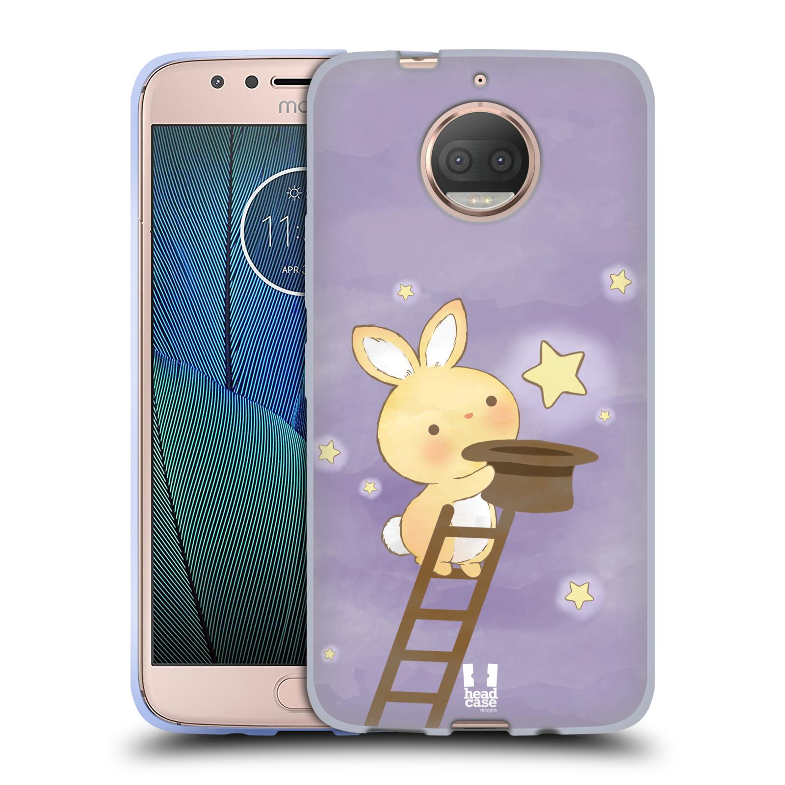 HEAD CASE silikonový obal na mobil Lenovo Moto G5s PLUS vzor králíček a hvězdy fialová