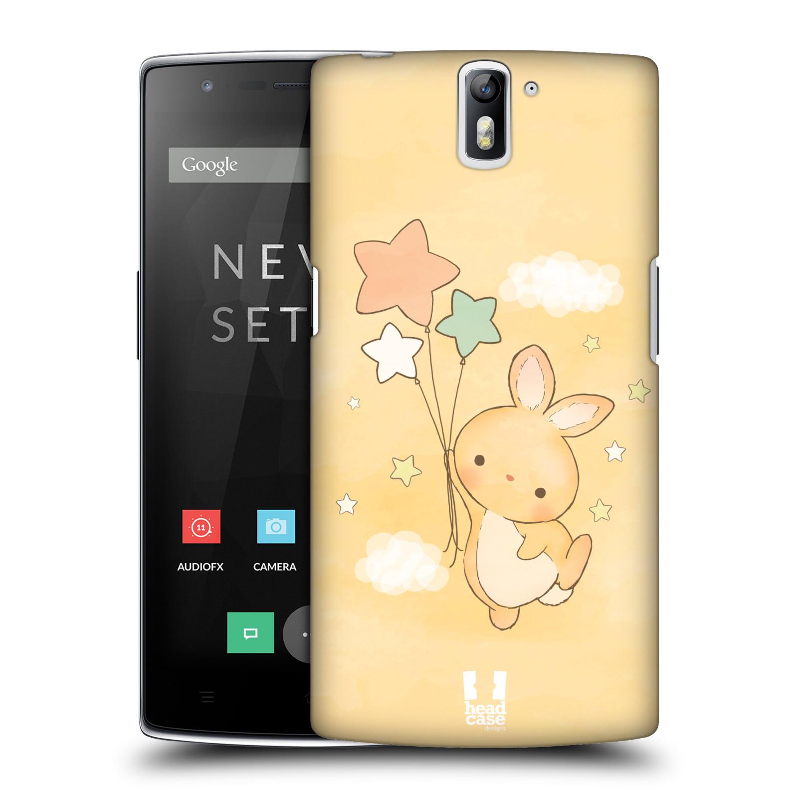 HEAD CASE pevný plastový obal na mobil OnePlus ONE vzor králíček a hvězdy žlutá