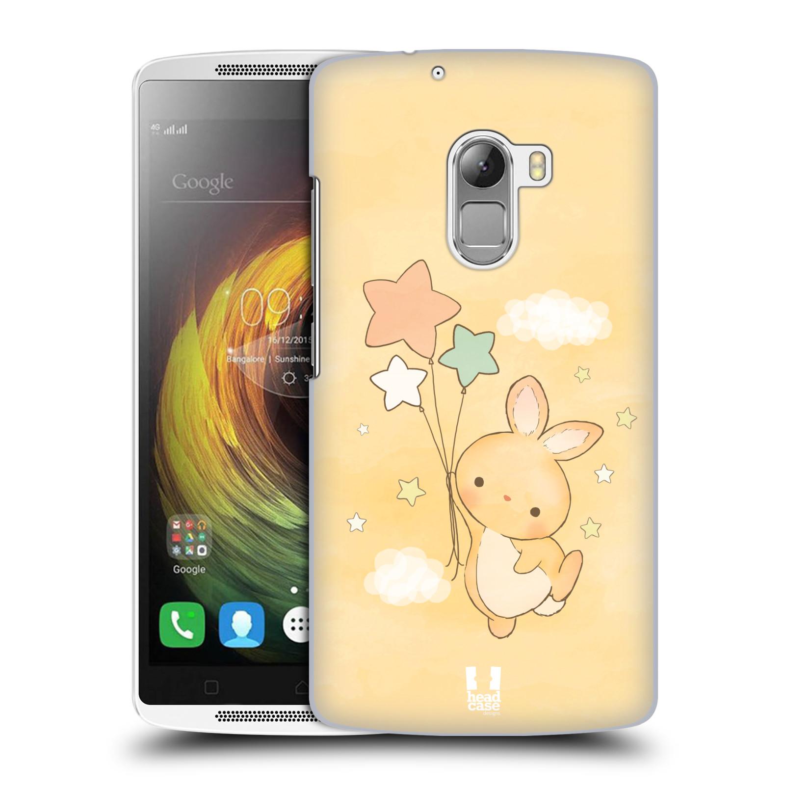 HEAD CASE pevný plastový obal na mobil LENOVO A7010 / A7010 DUAL / K4 Note / Vibe X3 lite vzor králíček a hvězdy žlutá