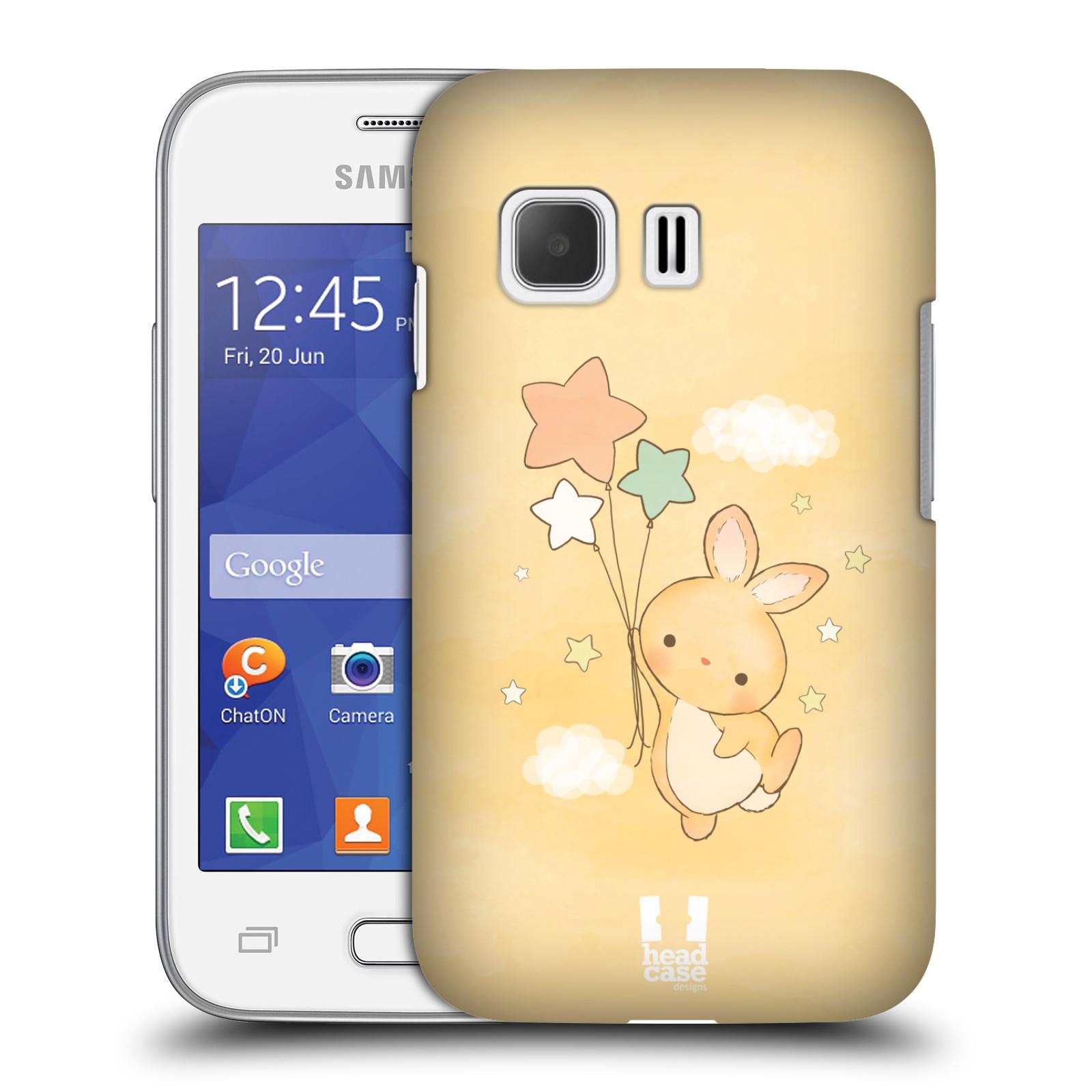 HEAD CASE plastový obal na mobil SAMSUNG Galaxy Young 2 (G130) vzor králíček a hvězdy žlutá