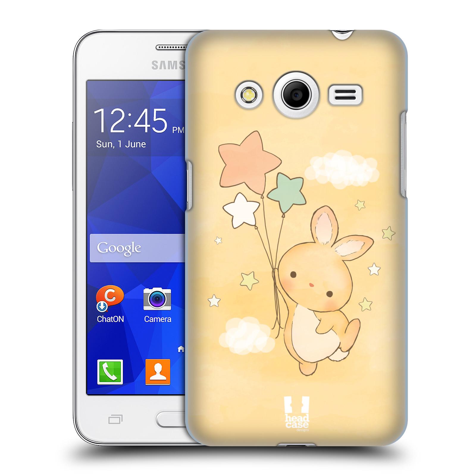 HEAD CASE plastový obal na mobil SAMSUNG GALAXY Core 2 (G355H) vzor králíček a hvězdy žlutá