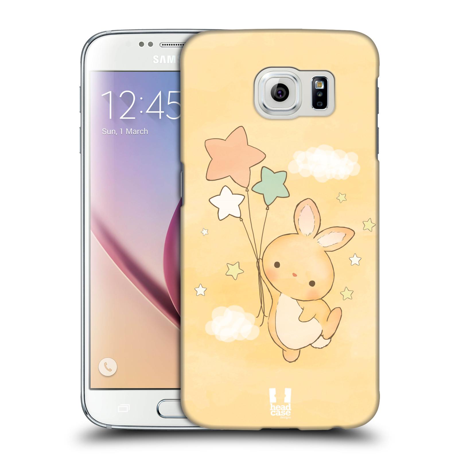 HEAD CASE plastový obal na mobil SAMSUNG Galaxy S6 (G9200, G920F) vzor králíček a hvězdy žlutá