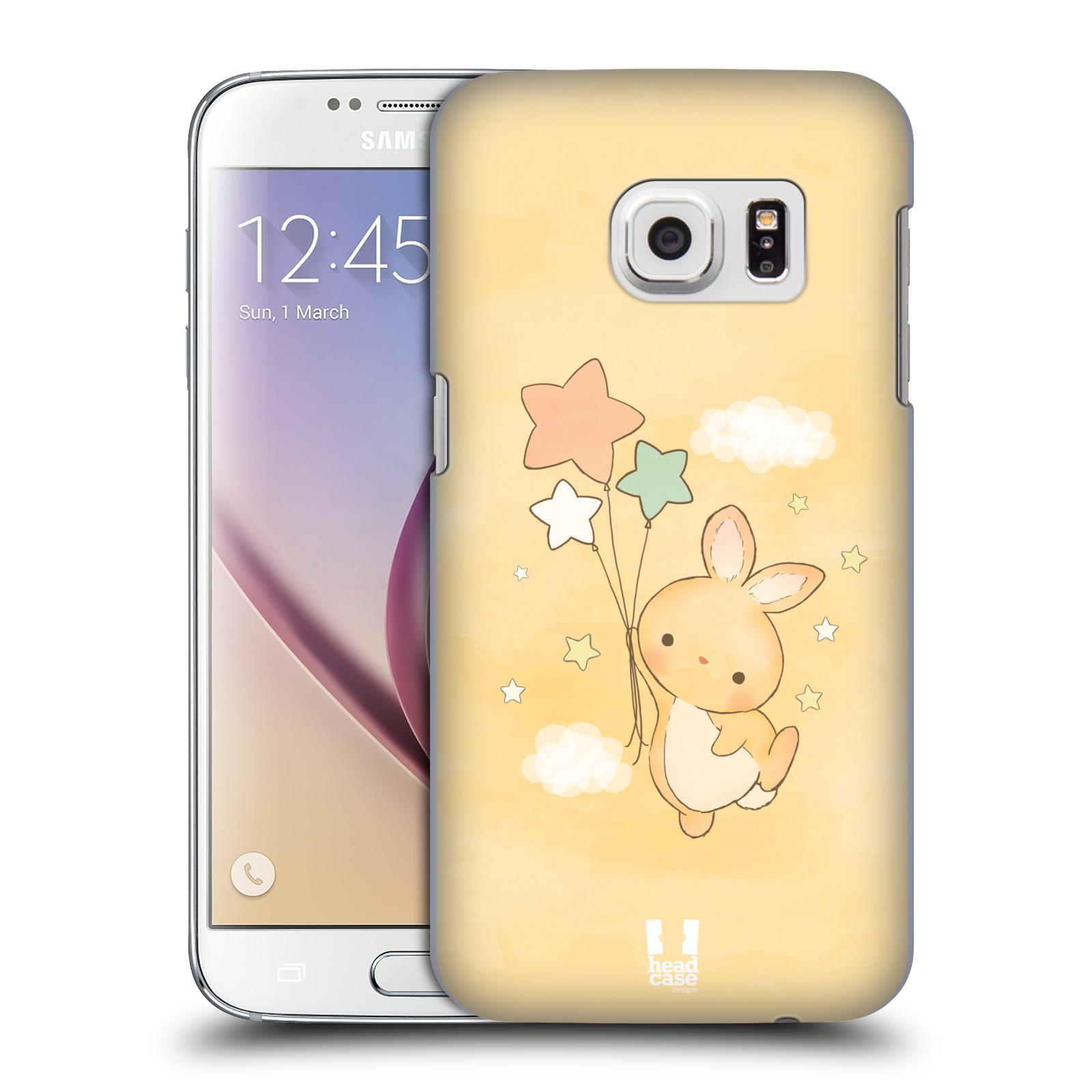 HEAD CASE plastový obal na mobil SAMSUNG GALAXY S7 vzor králíček a hvězdy žlutá
