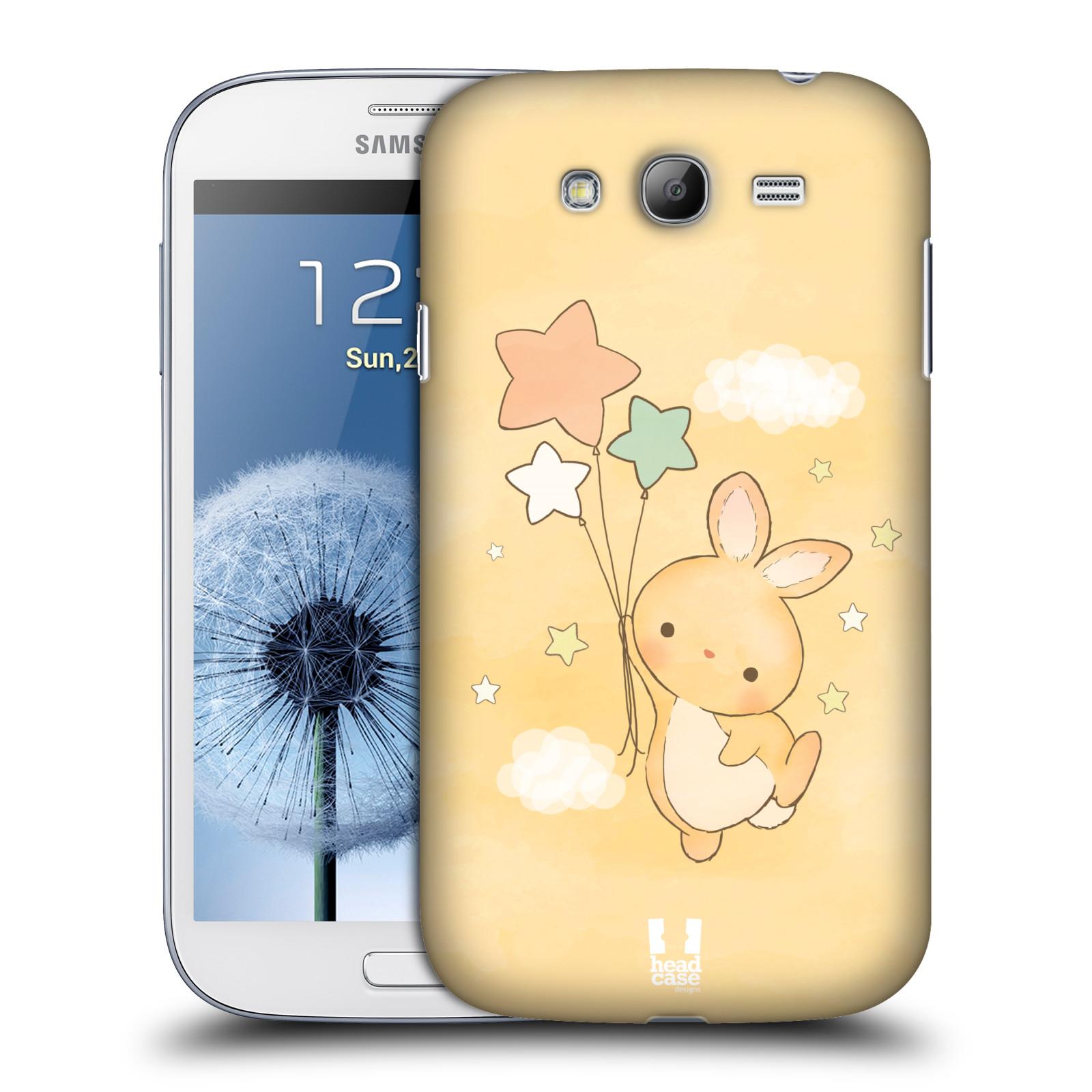 HEAD CASE plastový obal na mobil SAMSUNG GALAXY Grand i9080 vzor králíček a hvězdy žlutá