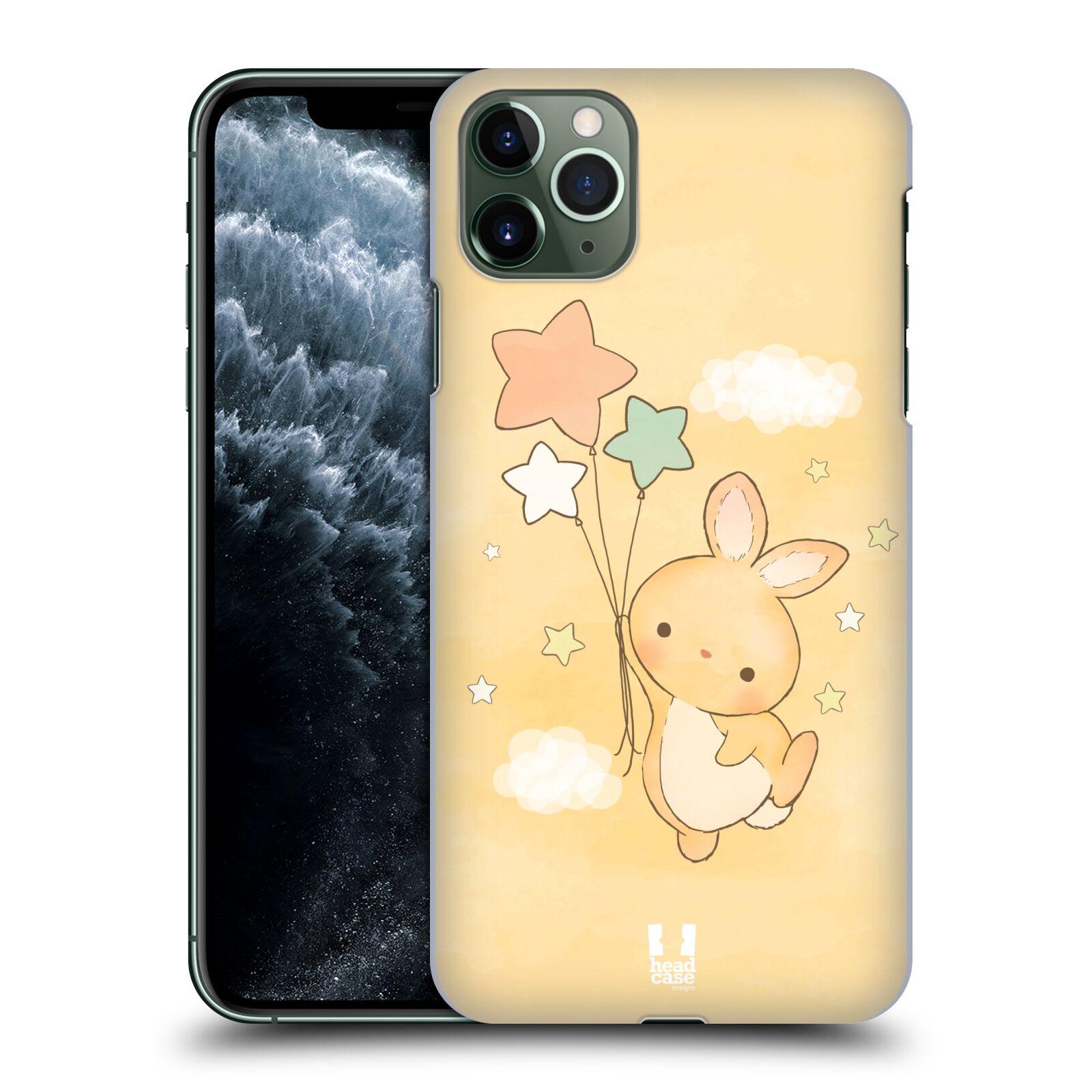 Pouzdro na mobil Apple Iphone 11 PRO MAX - HEAD CASE - vzor králíček a hvězdy žlutá