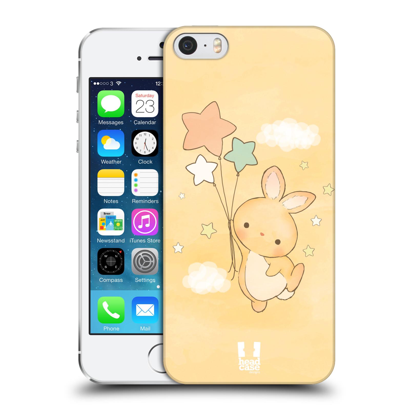 Plastové pouzdro pro mobil Apple Iphone 5 / 5S / SE vzor králíček a hvězdy žlutá