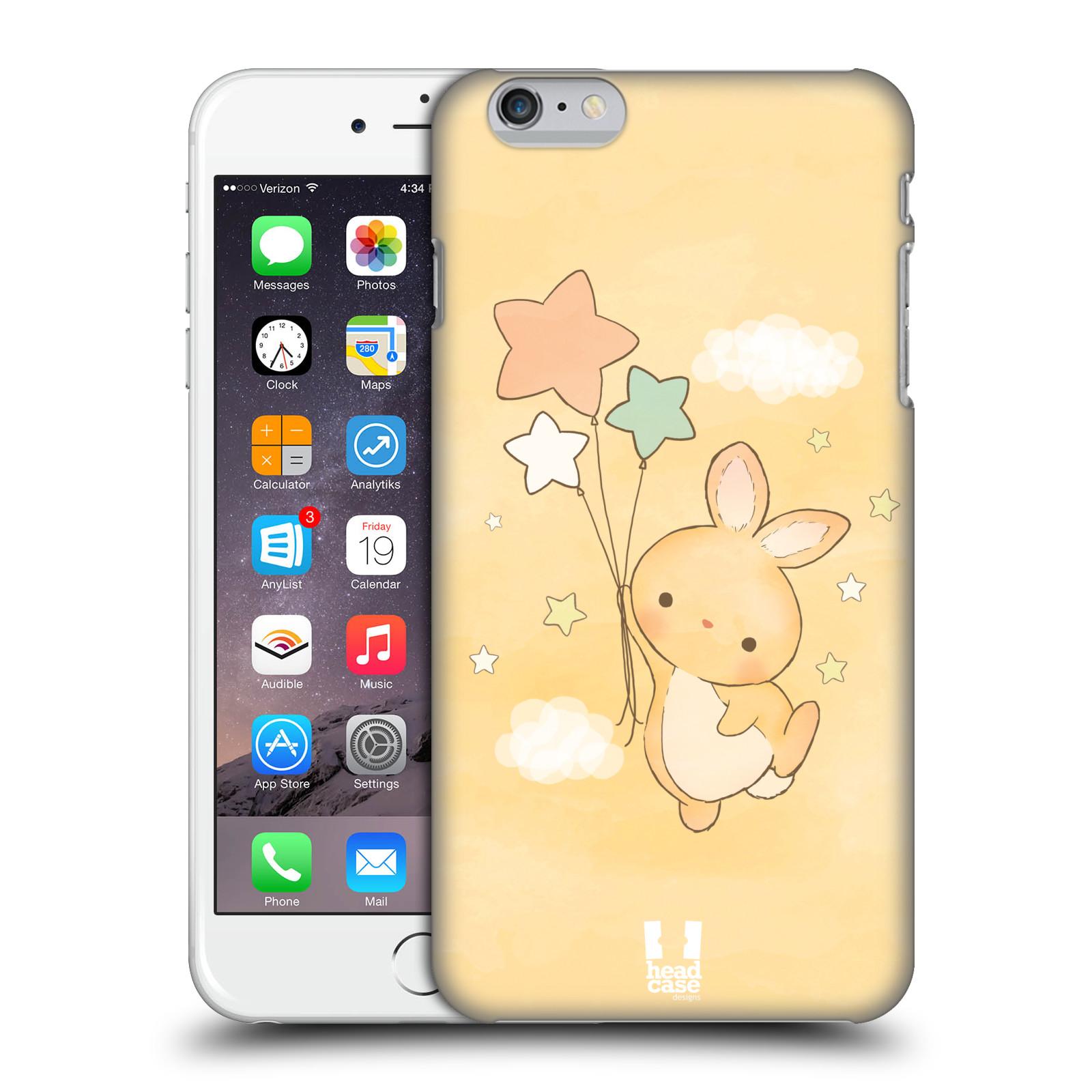 Plastové pouzdro pro mobil Apple Iphone 6 PLUS / 6S PLUS vzor králíček a hvězdy žlutá