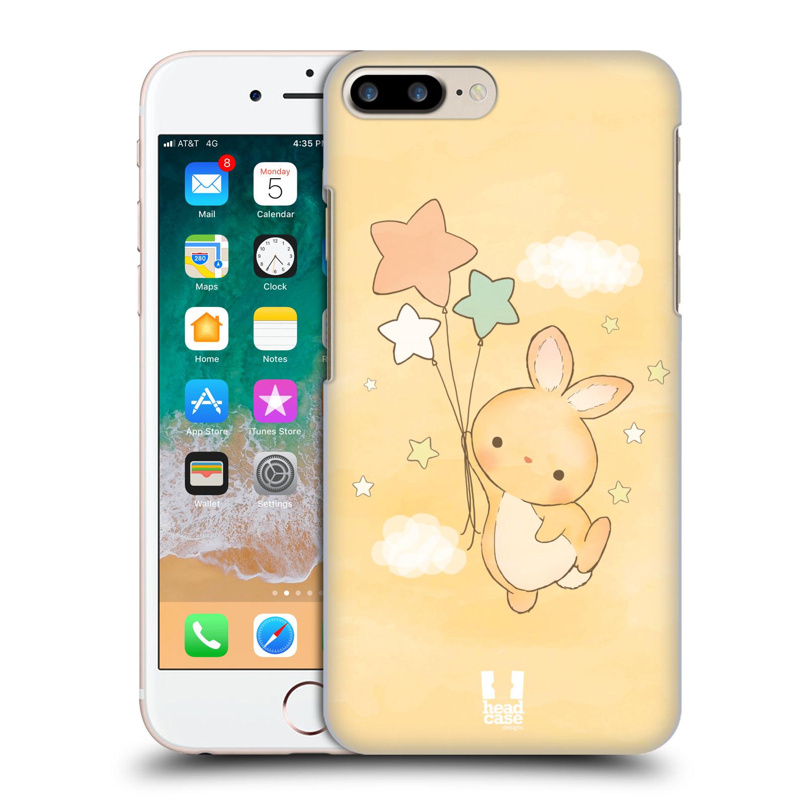 HEAD CASE plastový obal na mobil Apple Iphone 7 PLUS vzor králíček a hvězdy žlutá