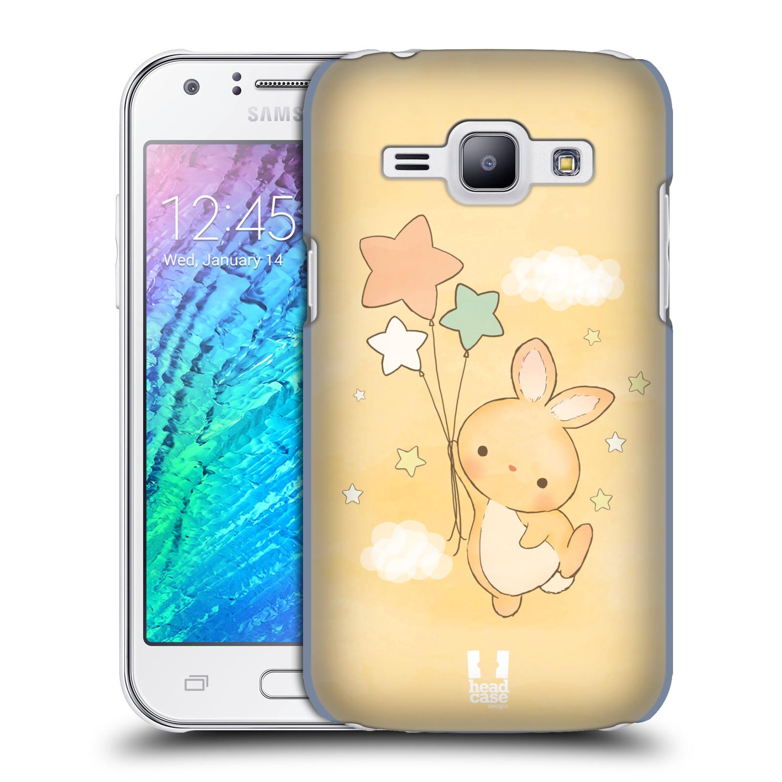 HEAD CASE plastový obal na mobil SAMSUNG Galaxy J1, J100 vzor králíček a hvězdy žlutá
