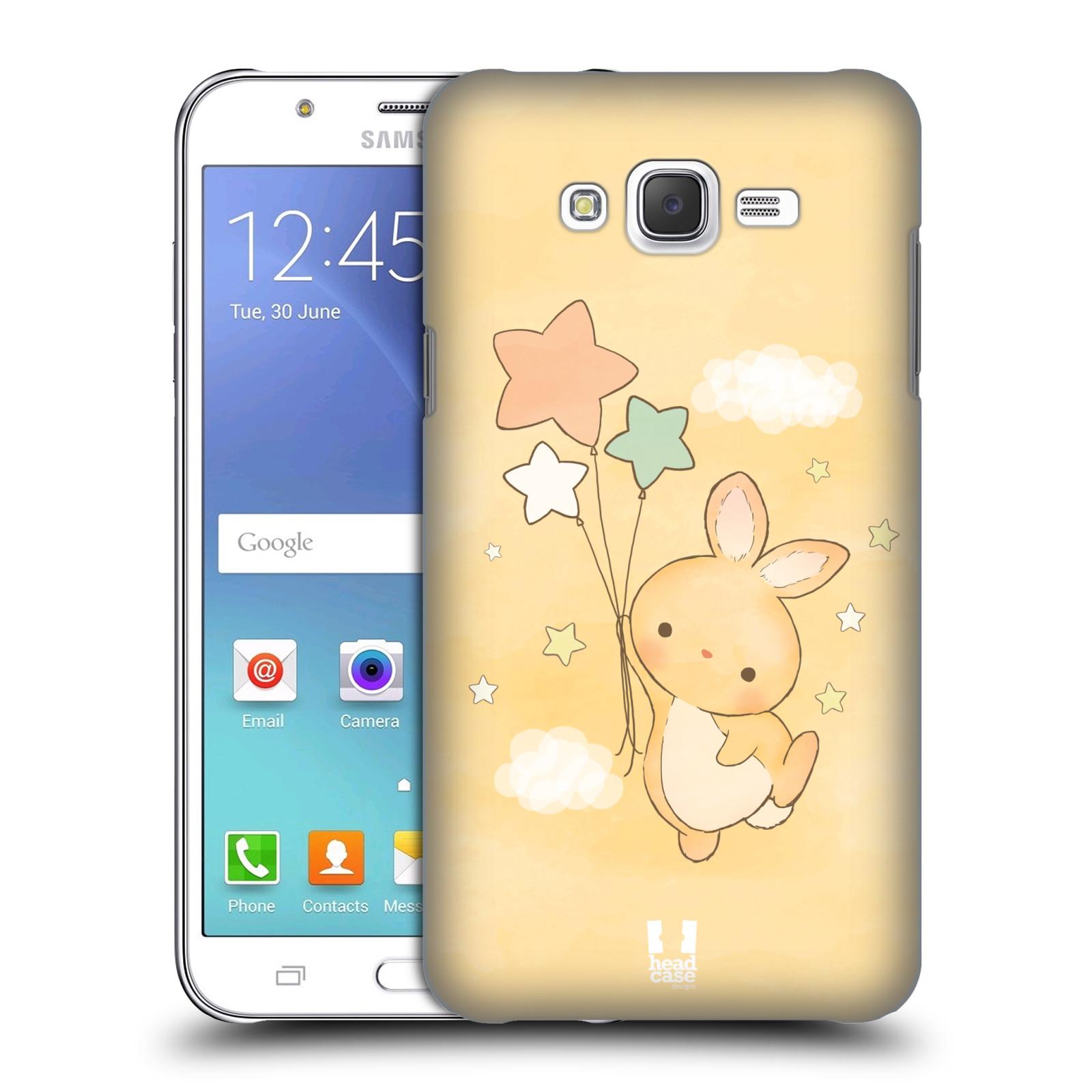 HEAD CASE plastový obal na mobil SAMSUNG Galaxy J7, J700 vzor králíček a hvězdy žlutá