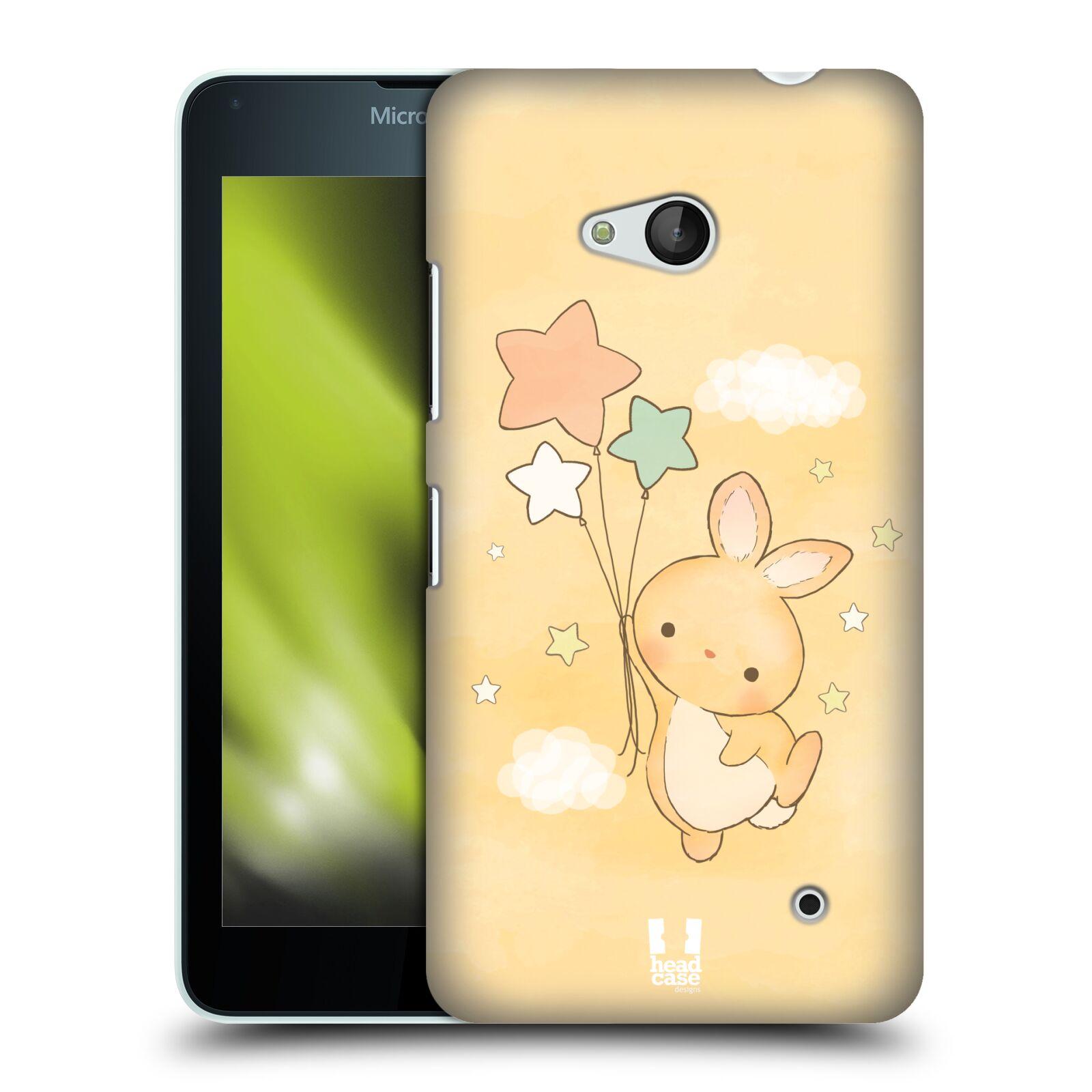 HEAD CASE plastový obal na mobil Nokia Lumia 640 vzor králíček a hvězdy žlutá