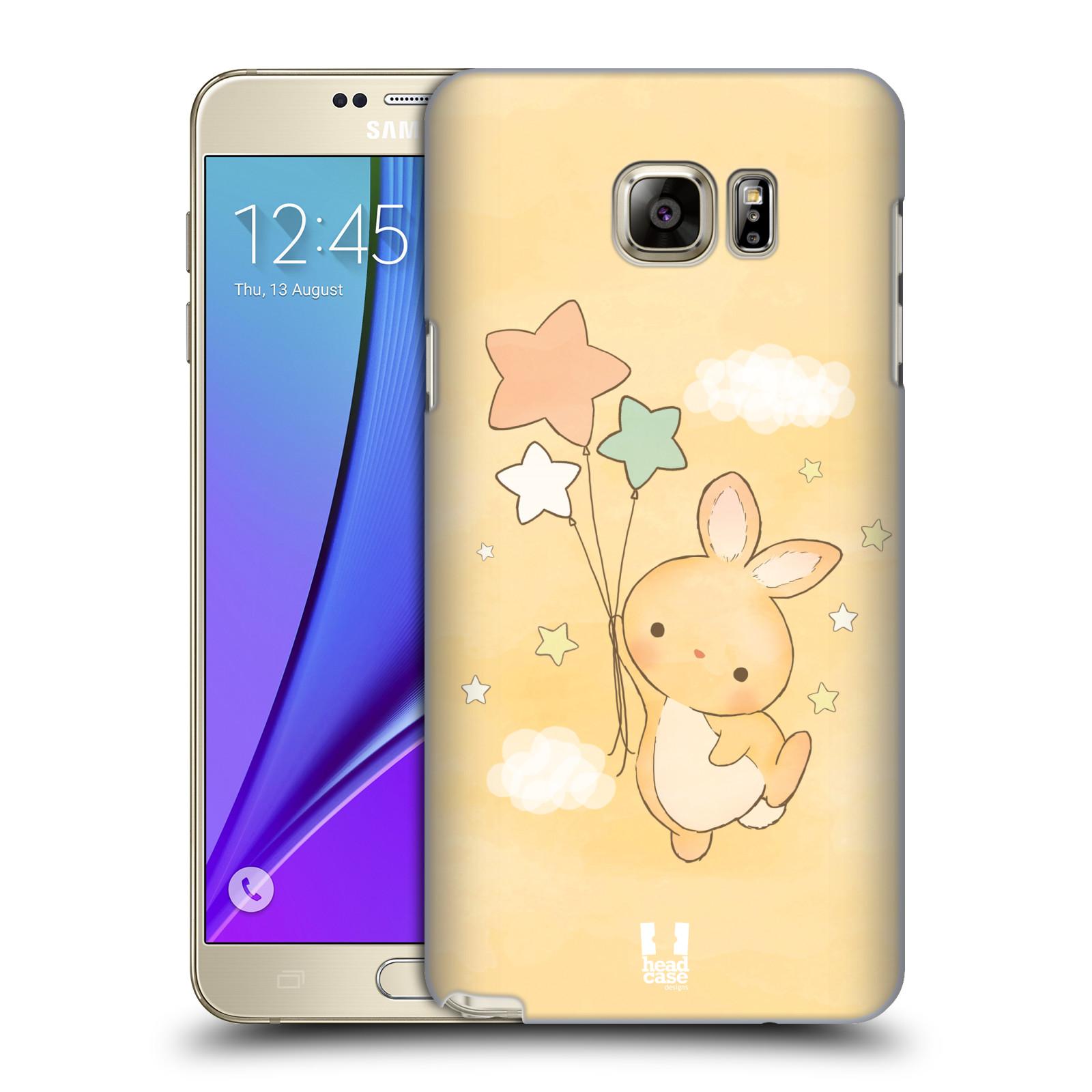 HEAD CASE plastový obal na mobil SAMSUNG Galaxy Note 5 (N920) vzor králíček a hvězdy žlutá