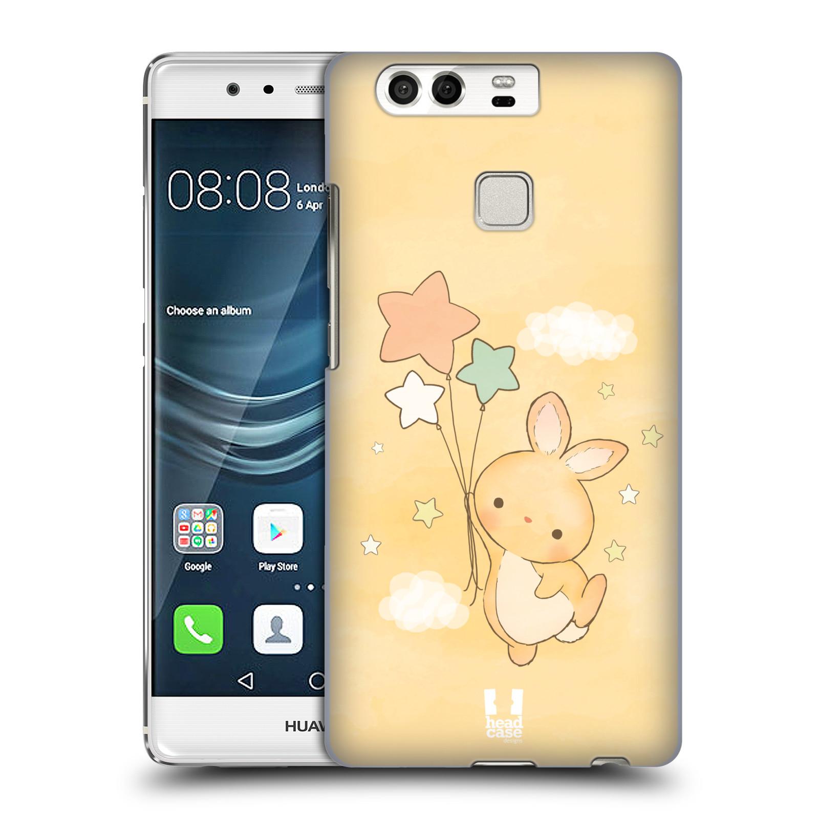HEAD CASE plastový obal na mobil Huawei P9 / P9 DUAL SIM vzor králíček a hvězdy žlutá