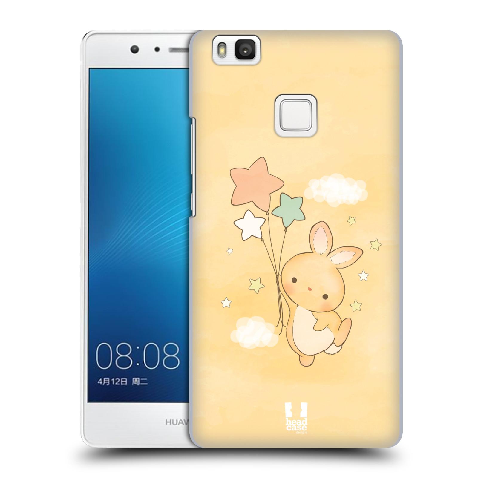 HEAD CASE plastový obal na mobil Huawei P9 LITE / P9 LITE DUAL SIM vzor králíček a hvězdy žlutá
