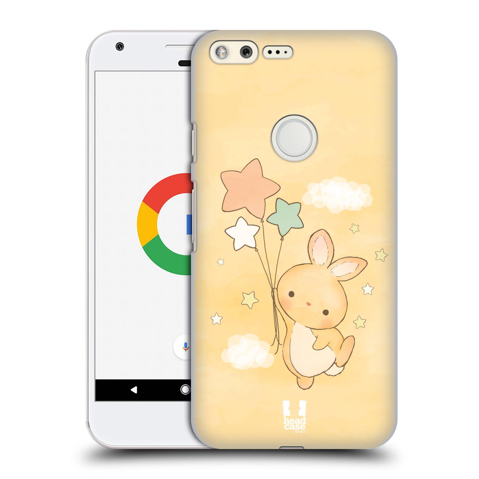 HEAD CASE plastový obal na mobil GOOGLE Pixel vzor králíček a hvězdy žlutá