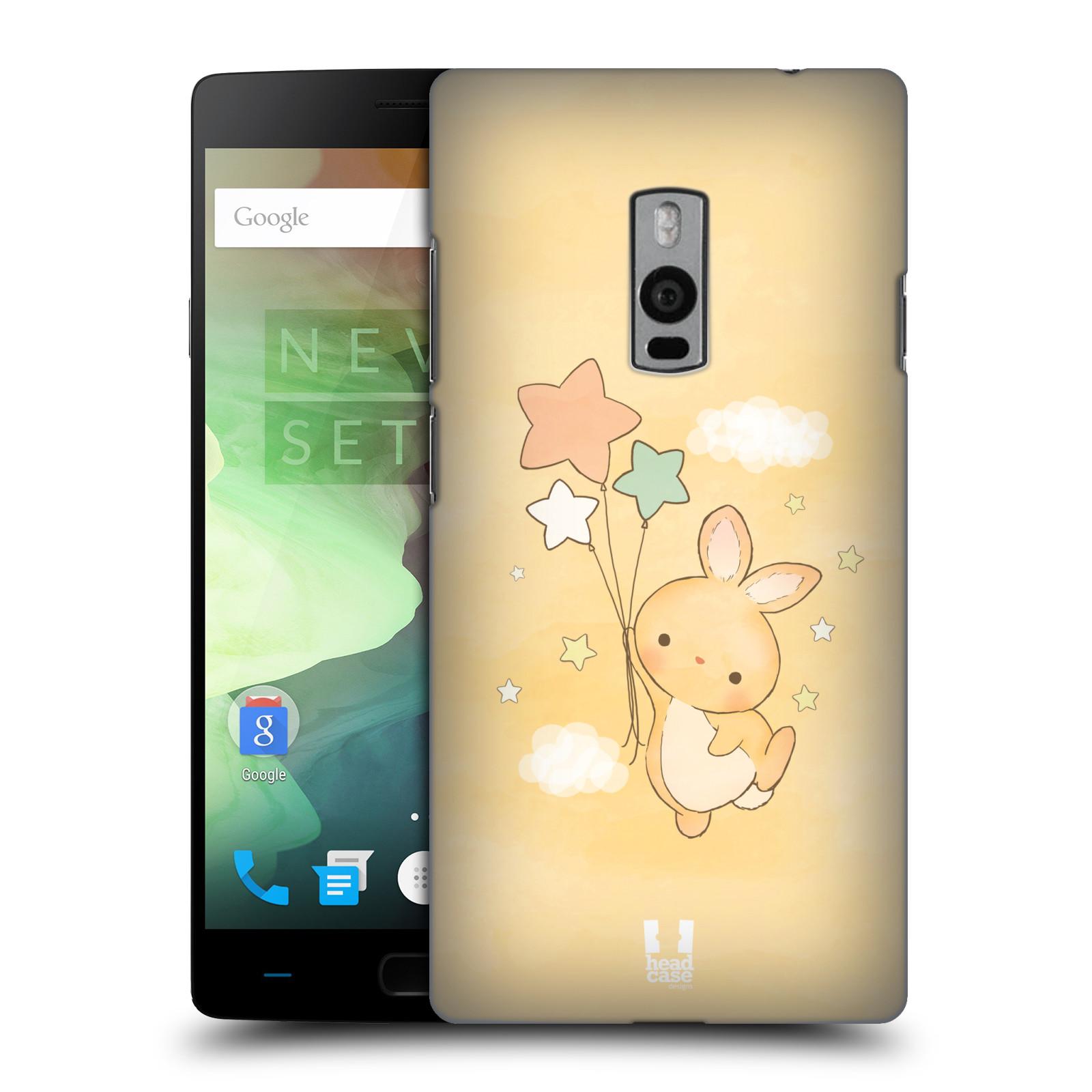 HEAD CASE pevný plastový obal na mobil OnePlus 2  ( TWO ) vzor králíček a hvězdy žlutá
