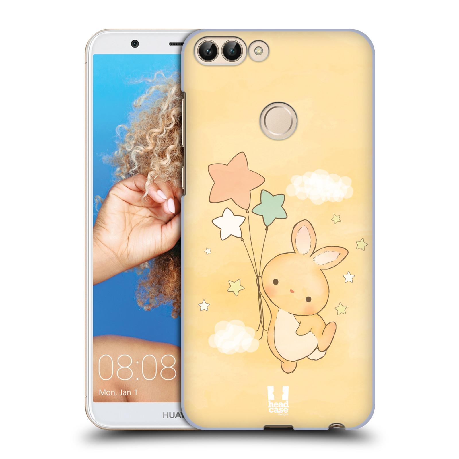 HEAD CASE plastový obal na mobil Huawei P Smart vzor králíček a hvězdy žlutá