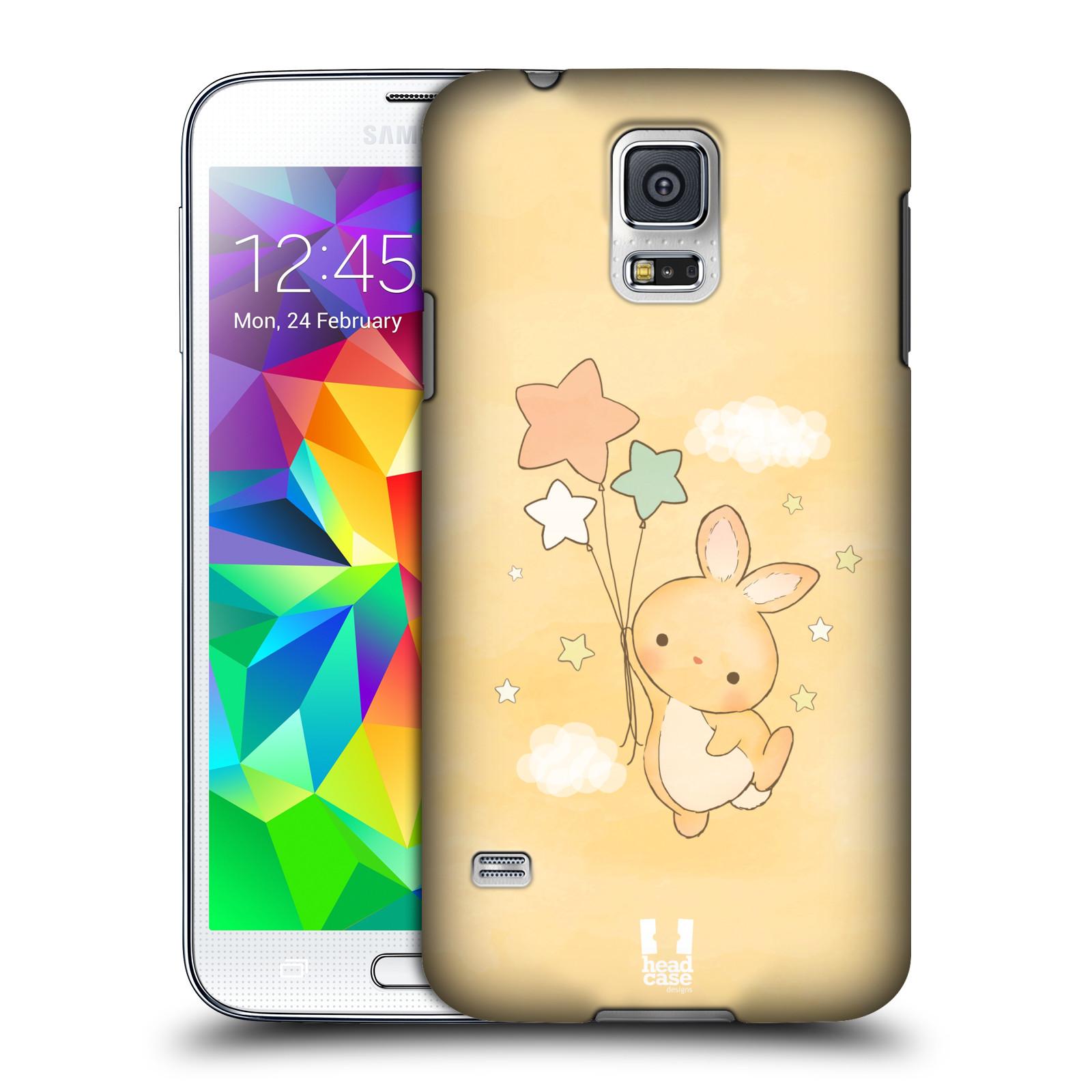 HEAD CASE plastový obal na mobil SAMSUNG Galaxy SS / S5 NEO (G900, G903F) vzor králíček a hvězdy žlutá