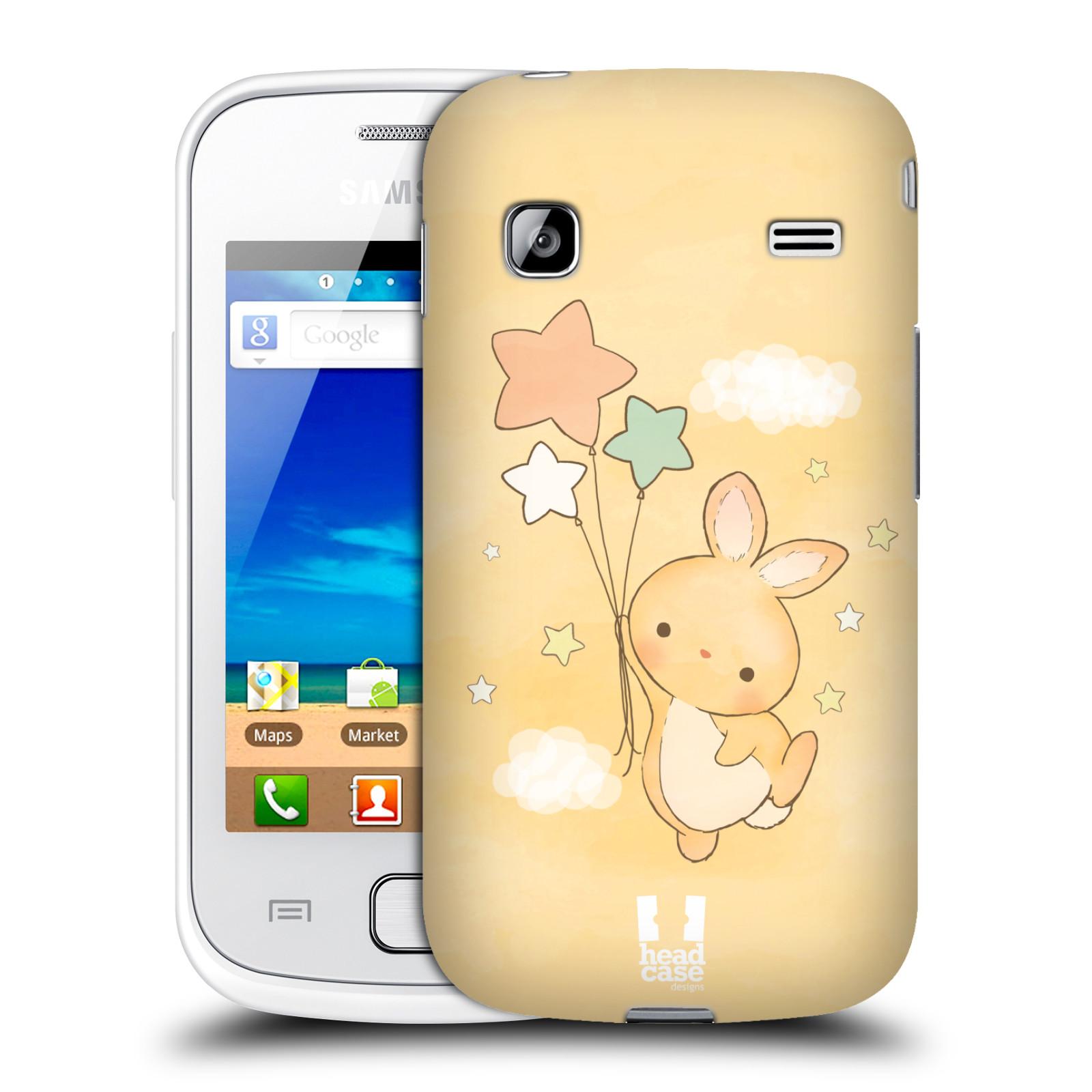 HEAD CASE plastový obal na mobil SAMSUNG GALAXY GIO (S5660) vzor králíček a hvězdy žlutá