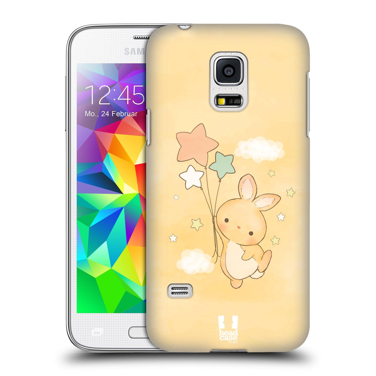 HEAD CASE plastový obal na mobil SAMSUNG Galaxy S5 MINI / S5 MINI DUOS vzor králíček a hvězdy žlutá