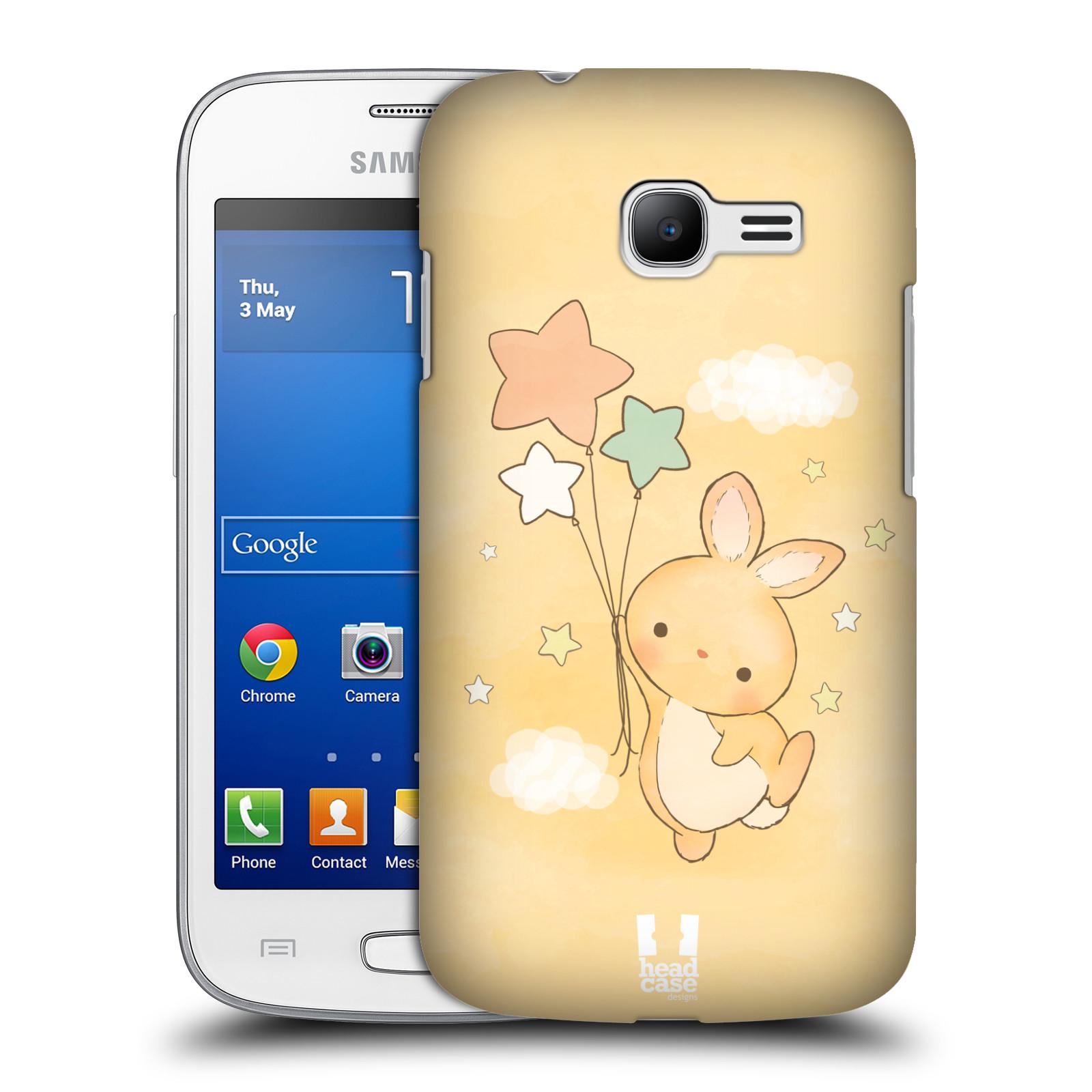 HEAD CASE plastový obal na mobil SAMSUNG GALAXY Star Pro S7260/S7262 DUOS vzor králíček a hvězdy žlutá