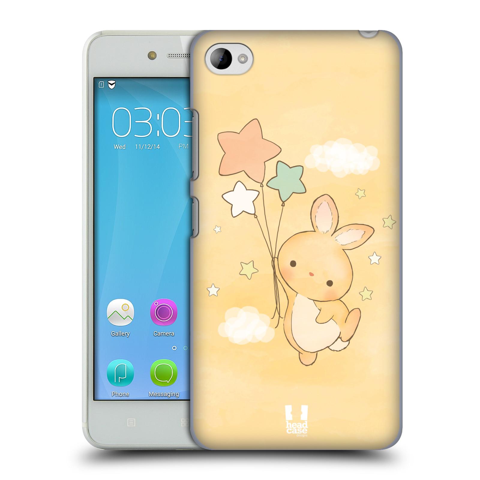 HEAD CASE pevný plastový obal na mobil LENOVO S90 vzor králíček a hvězdy žlutá