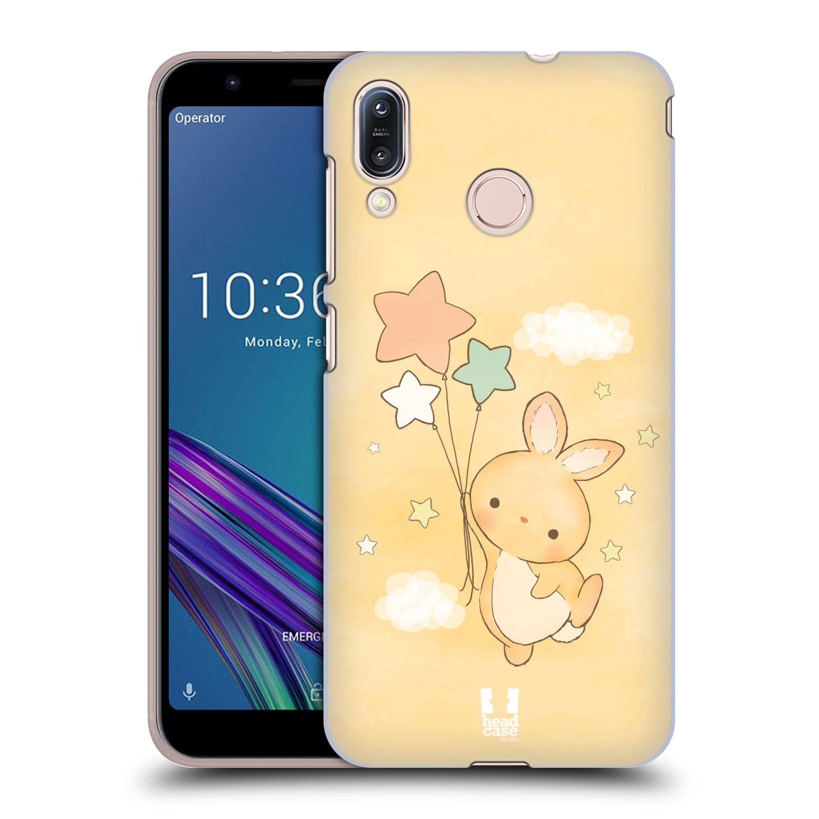 Pouzdro na mobil Asus Zenfone Max M1 (ZB555KL) - HEAD CASE - vzor králíček a hvězdy žlutá