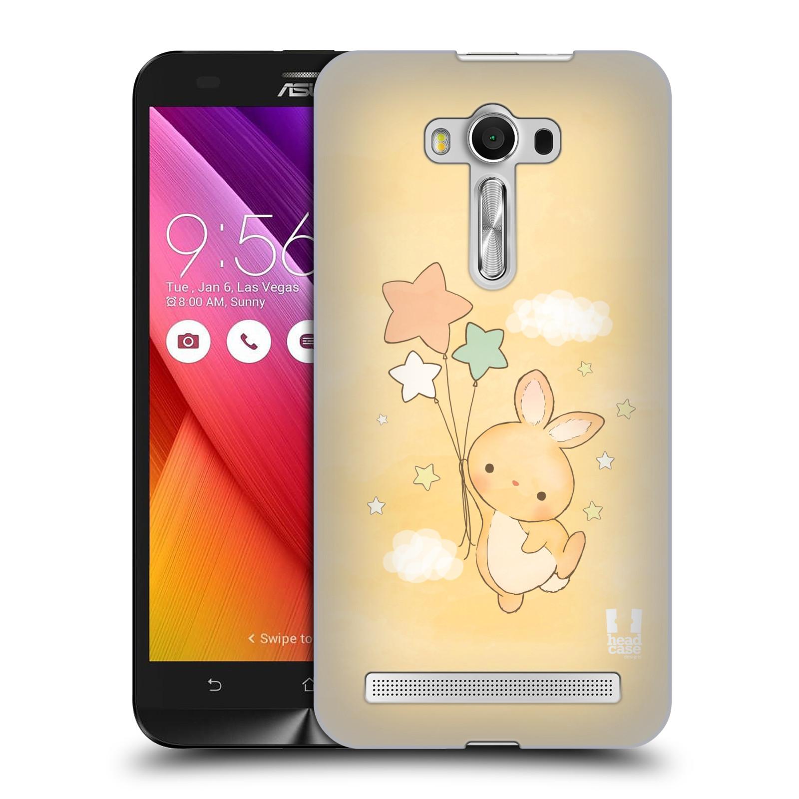 HEAD CASE plastový obal na mobil Asus Zenfone 2 LASER (5,5 displej ZE550KL) vzor králíček a hvězdy žlutá