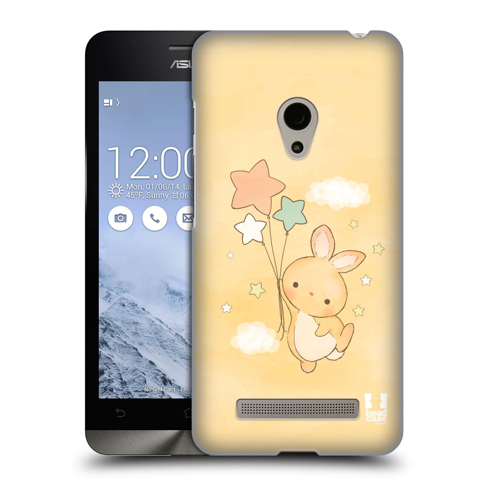 HEAD CASE plastový obal na mobil Asus Zenfone 5 vzor králíček a hvězdy žlutá