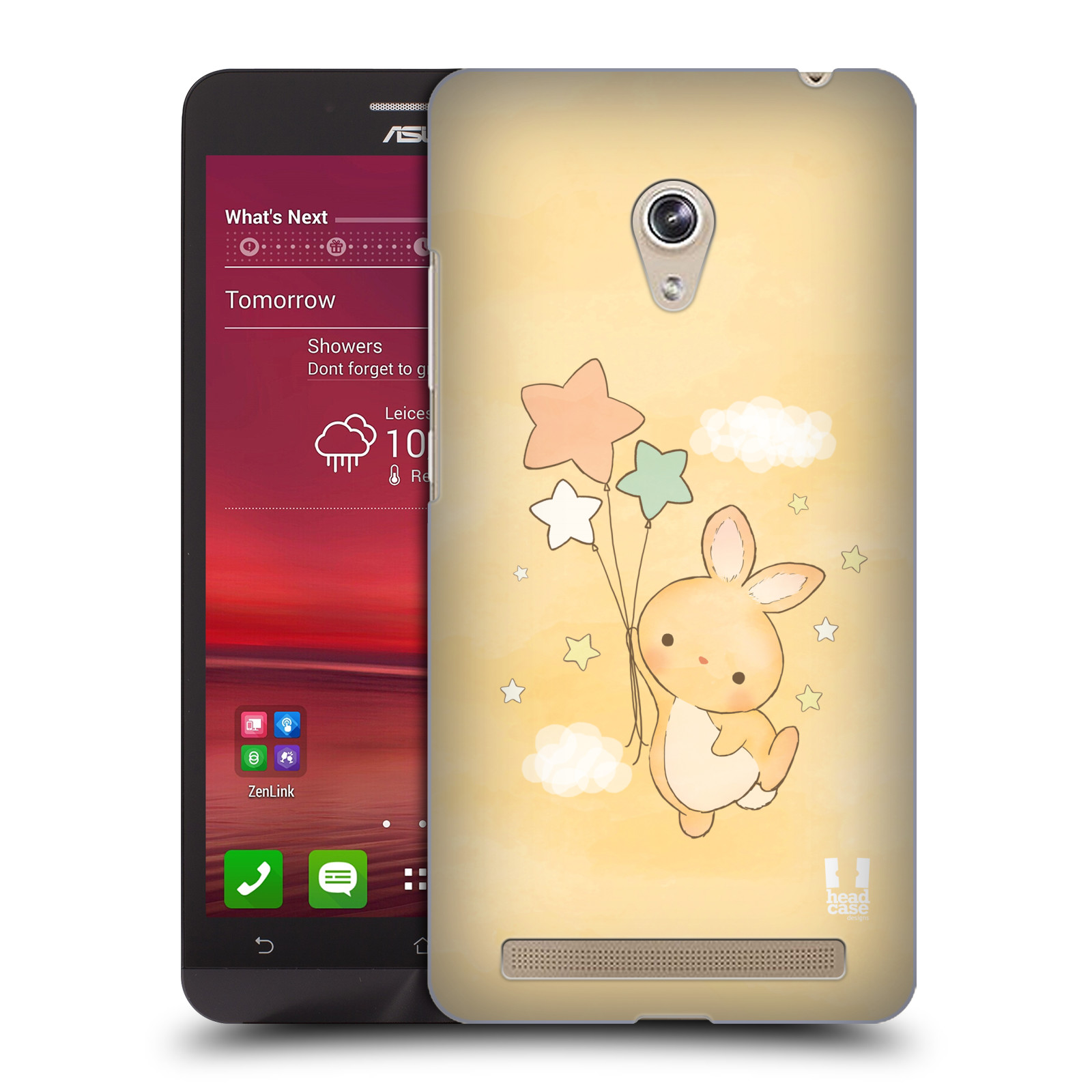 HEAD CASE plastový obal na mobil Asus Zenfone 6 vzor králíček a hvězdy žlutá
