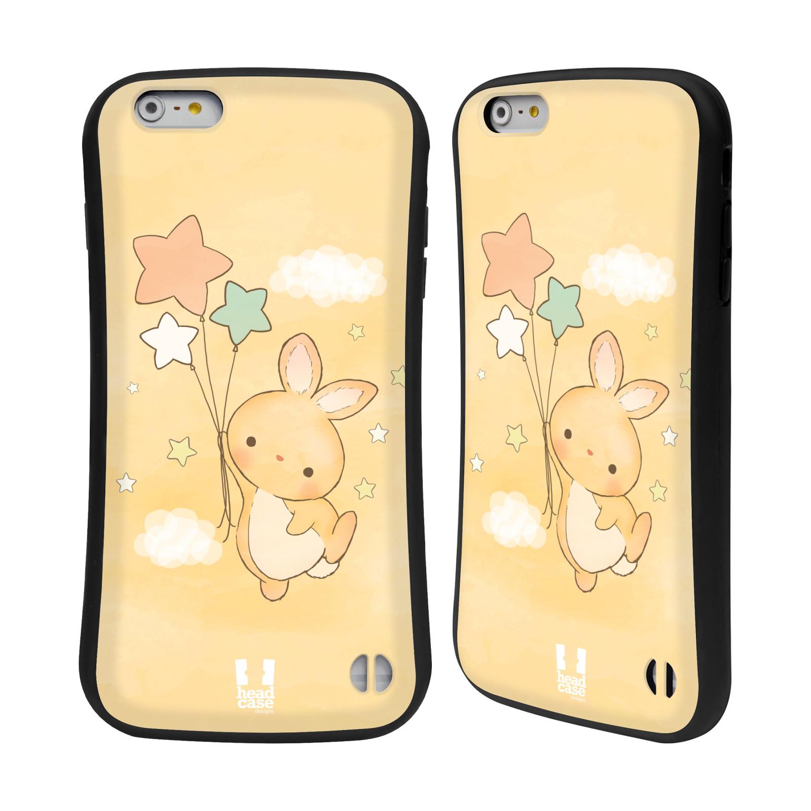 HEAD CASE silikon/plast odolný obal na mobil Apple Iphone 6 PLUS / 6S PLUS vzor králíček a hvězdy žlutá