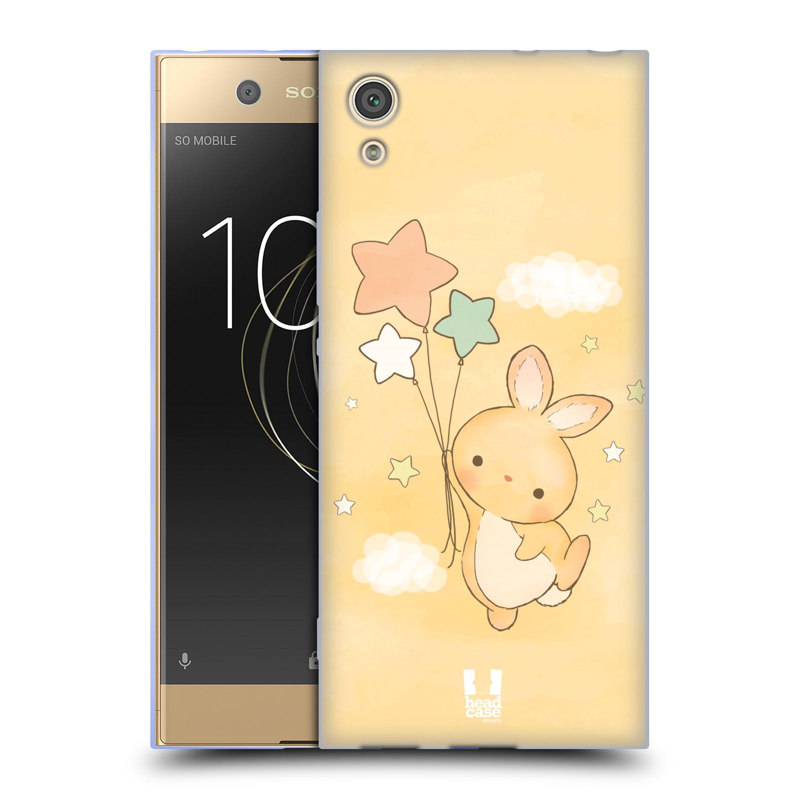 HEAD CASE silikonový obal na mobil Sony Xperia XA1 / XA1 DUAL SIM vzor králíček a hvězdy žlutá