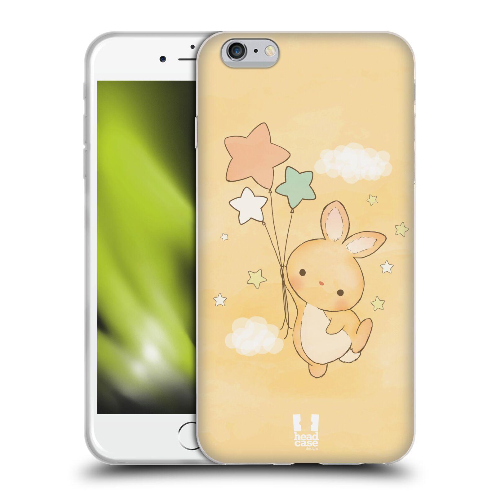 HEAD CASE silikonový obal na mobil Apple Iphone 6 PLUS/ 6S PLUS vzor králíček a hvězdy žlutá