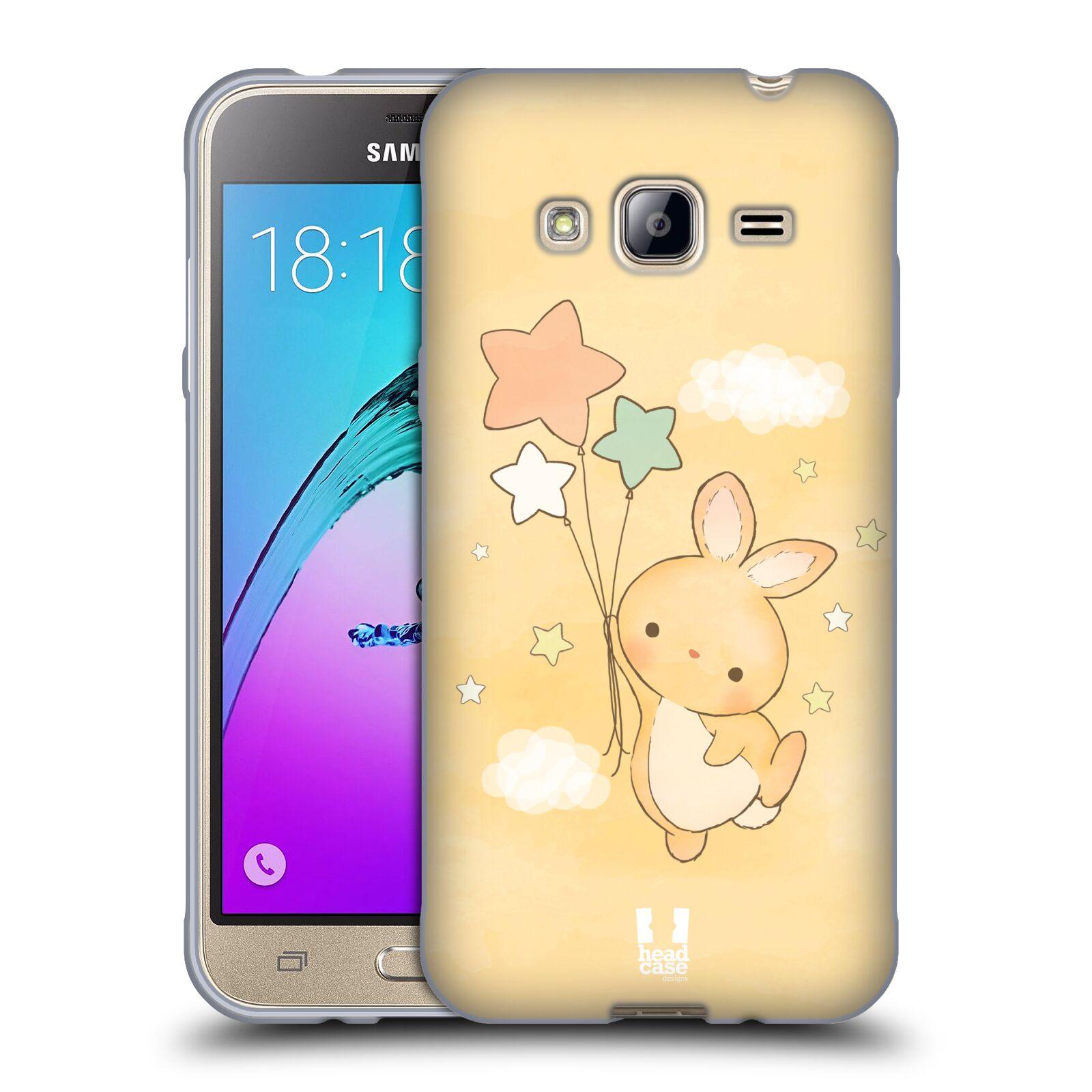 HEAD CASE silikonový obal na mobil Samsung Galaxy J3, J3 2016 vzor králíček a hvězdy žlutá