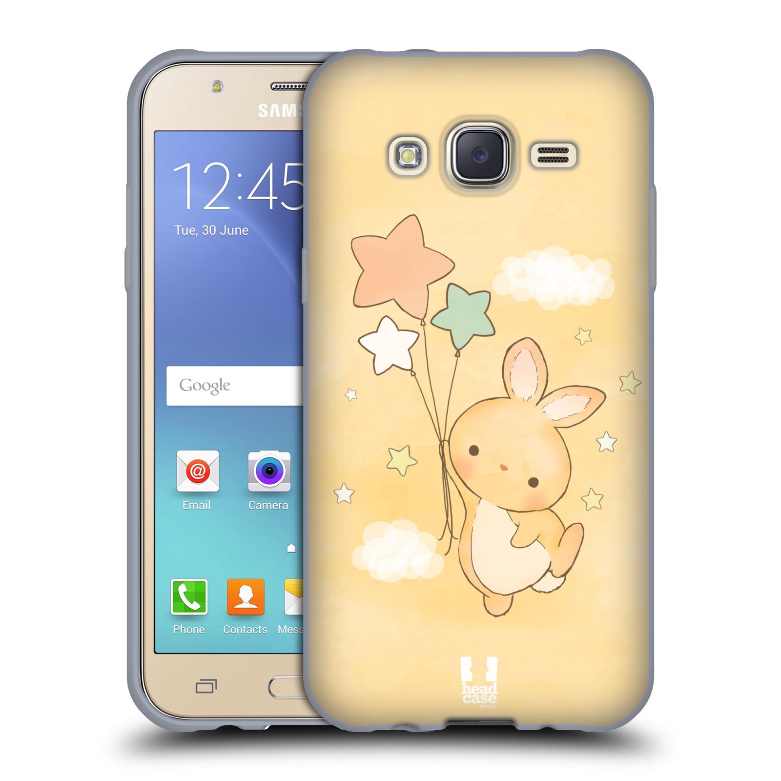 HEAD CASE silikonový obal na mobil Samsung Galaxy J5, J500, (J5 DUOS) vzor králíček a hvězdy žlutá