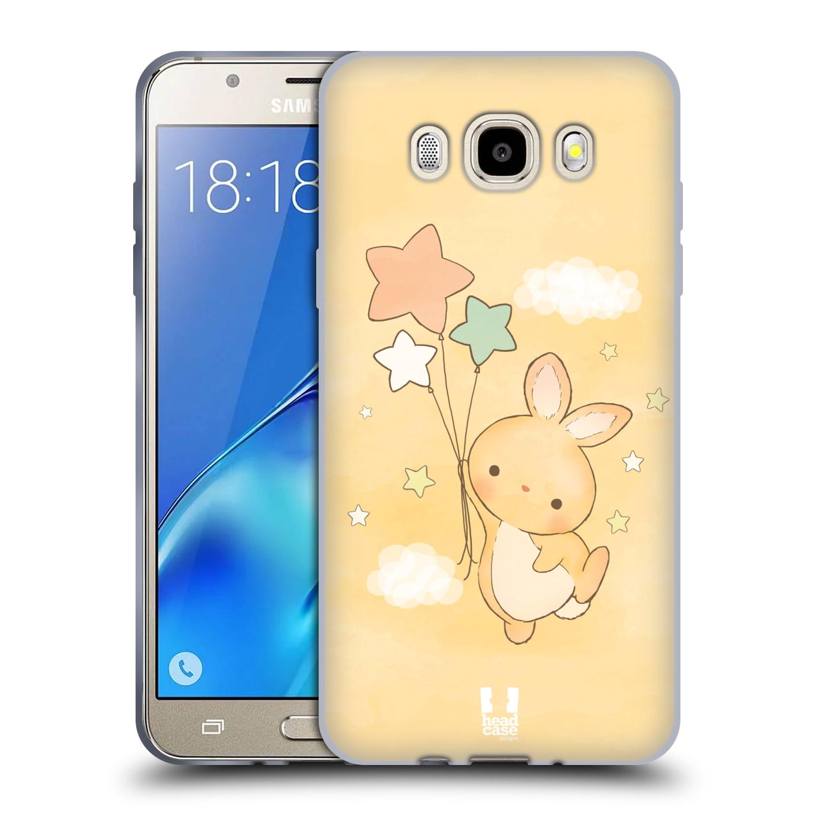 HEAD CASE silikonový obal, kryt na mobil Samsung Galaxy J5 2016, J510, J510F, (J510F DUAL SIM) vzor králíček a hvězdy žlutá