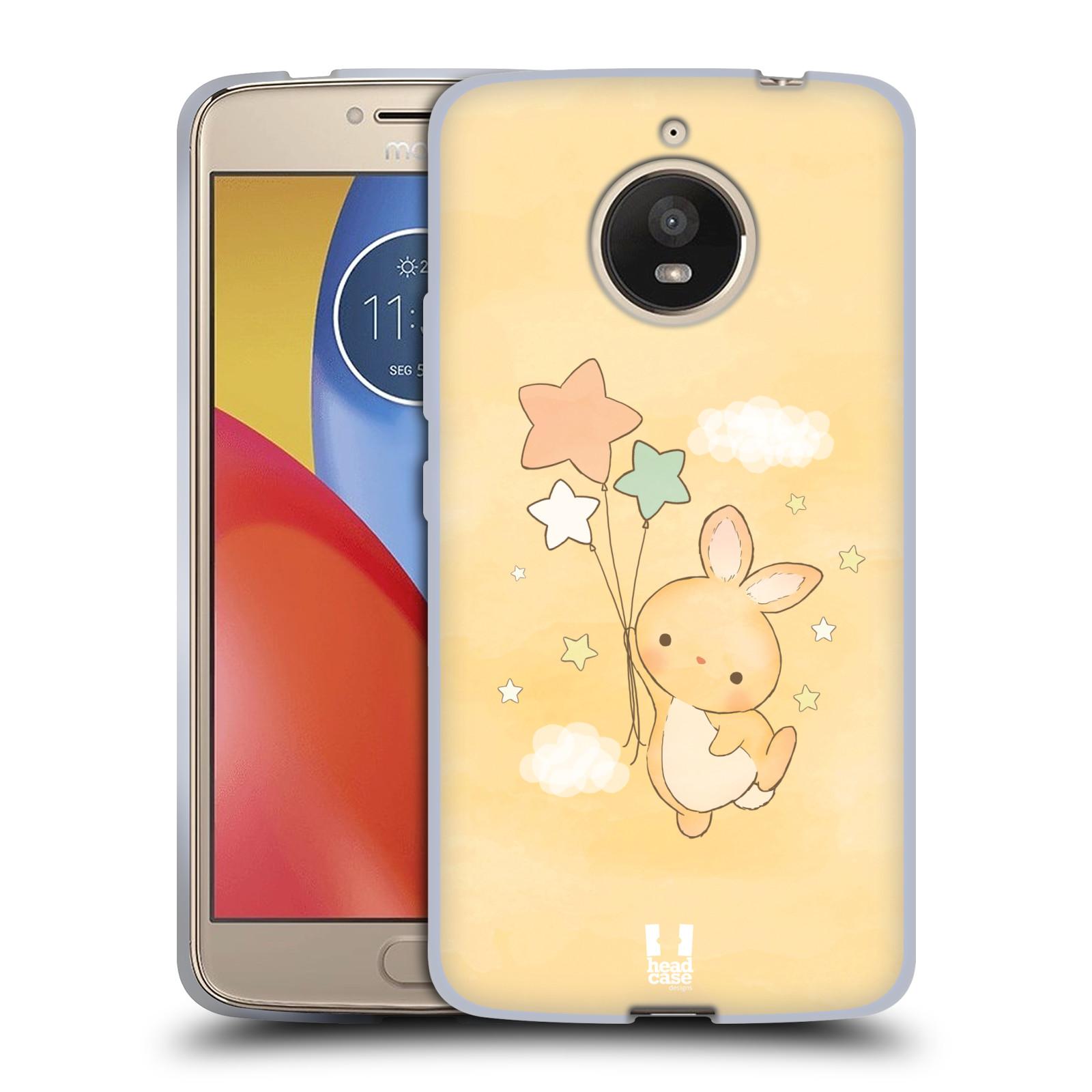 aae933e6e HEAD CASE silikonový obal na mobil Lenovo Moto E4 PLUS vzor králíček a  hvězdy žlutá