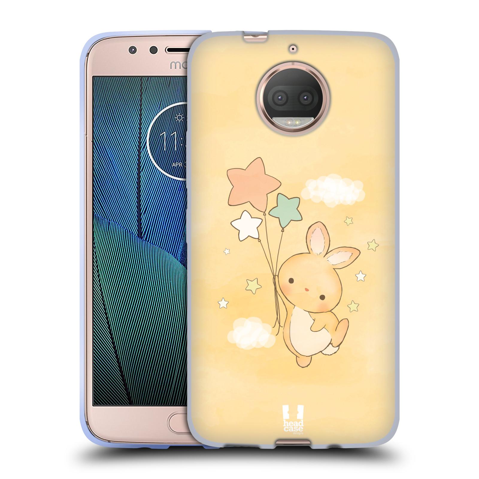 HEAD CASE silikonový obal na mobil Lenovo Moto G5s PLUS vzor králíček a hvězdy žlutá