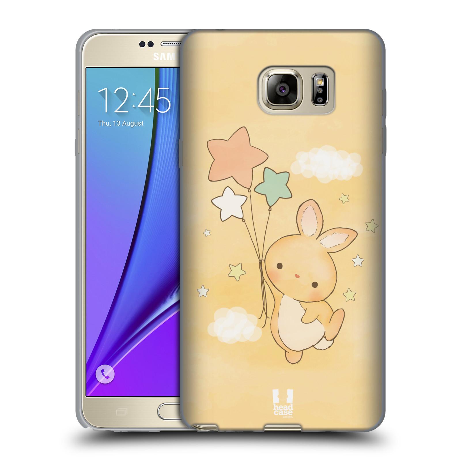 HEAD CASE silikonový obal na mobil Samsung Galaxy Note 5 (N920) vzor králíček a hvězdy žlutá