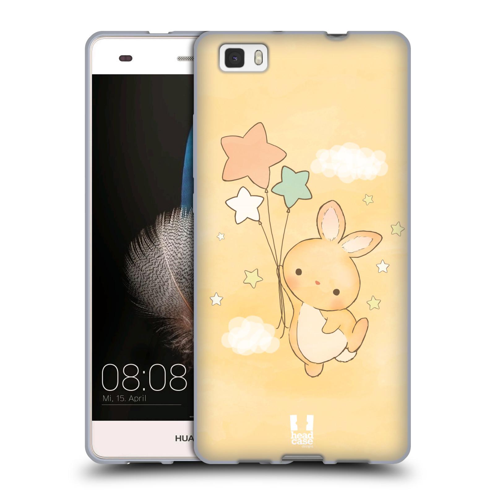 HEAD CASE silikonový obal na mobil HUAWEI P8 LITE vzor králíček a hvězdy žlutá