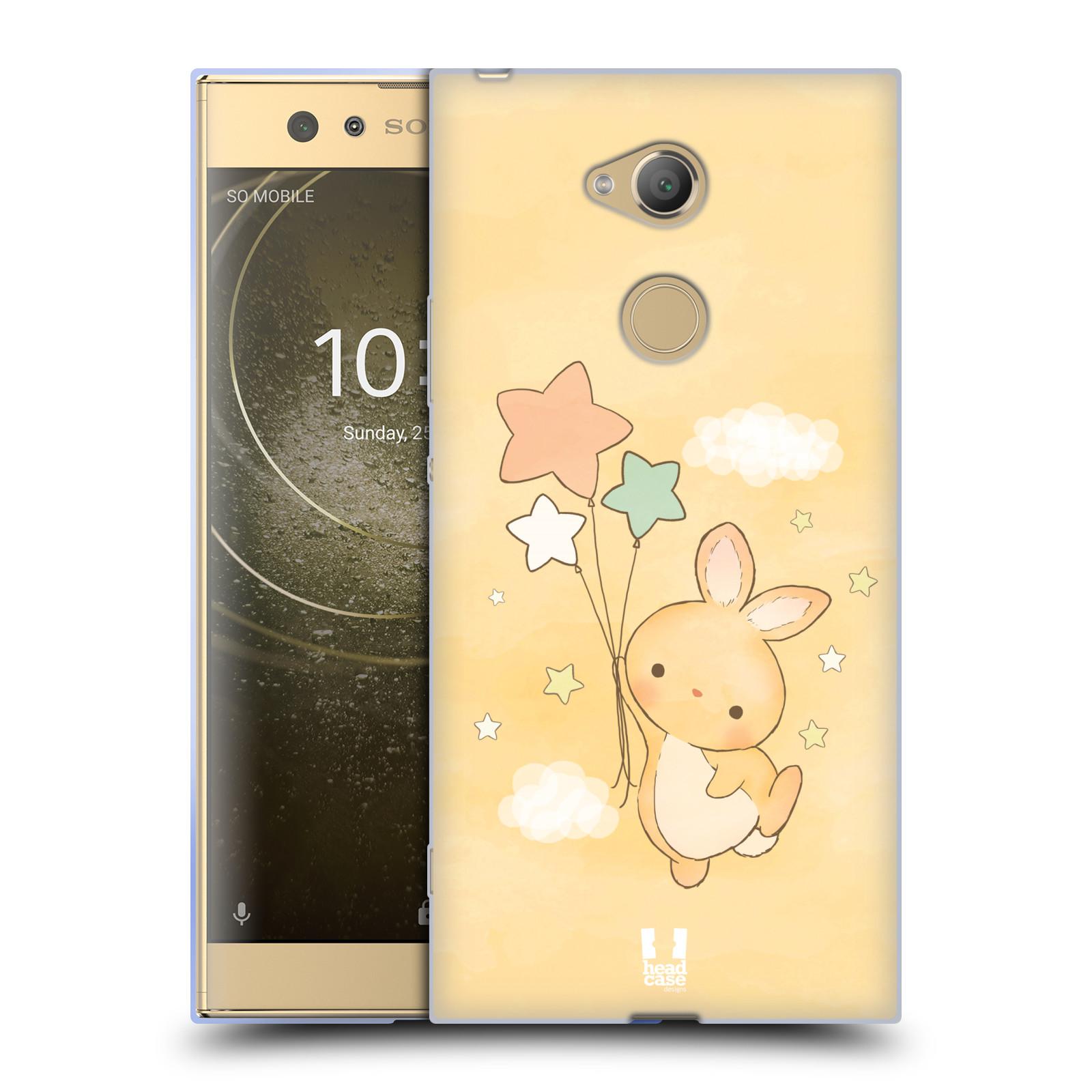 Pouzdro na mobil Sony Xperia XA2 Ultra vzor králíček a hvězdy žlutá