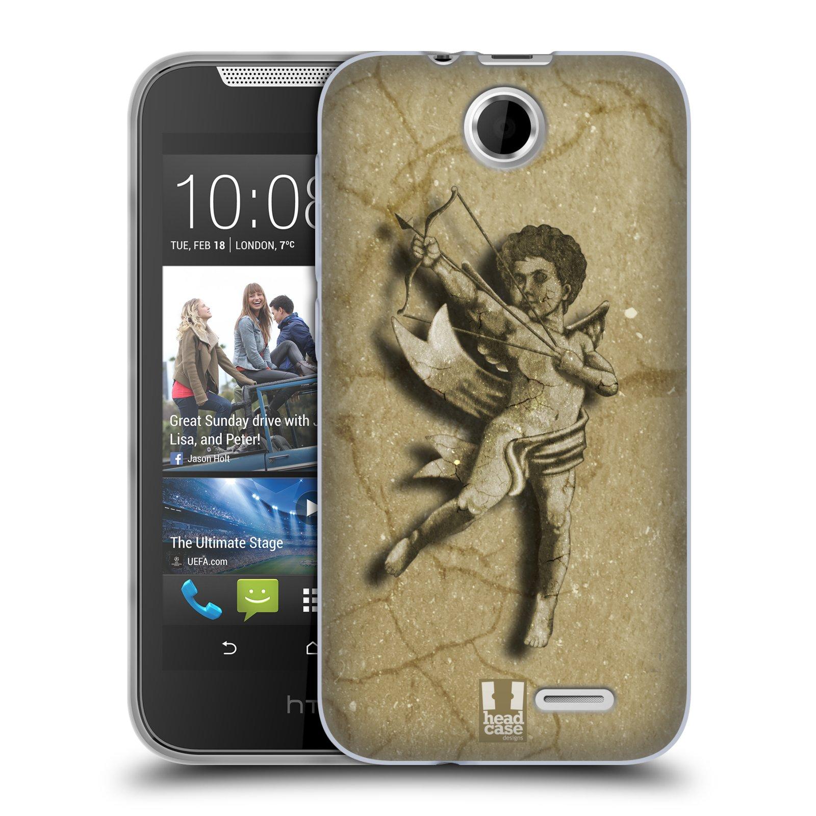 HEAD CASE silikonový obal na mobil HTC DESIRE 310 vzor Andělé z kamene LANCELOT