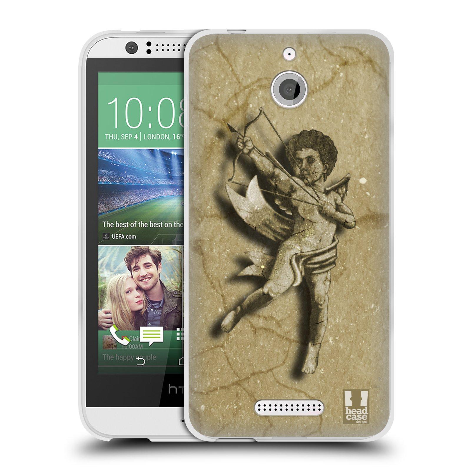 HEAD CASE silikonový obal HTC DESIRE 510 vzor Andělé z kamene LANCELOT