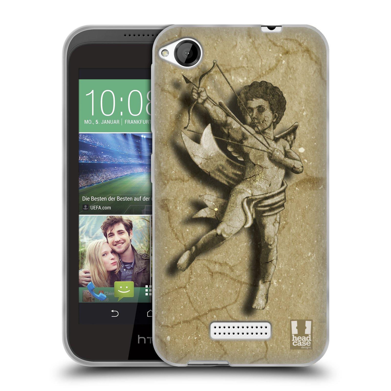 HEAD CASE silikonový obal na mobil HTC DESIRE 320 vzor Andělé z kamene LANCELOT