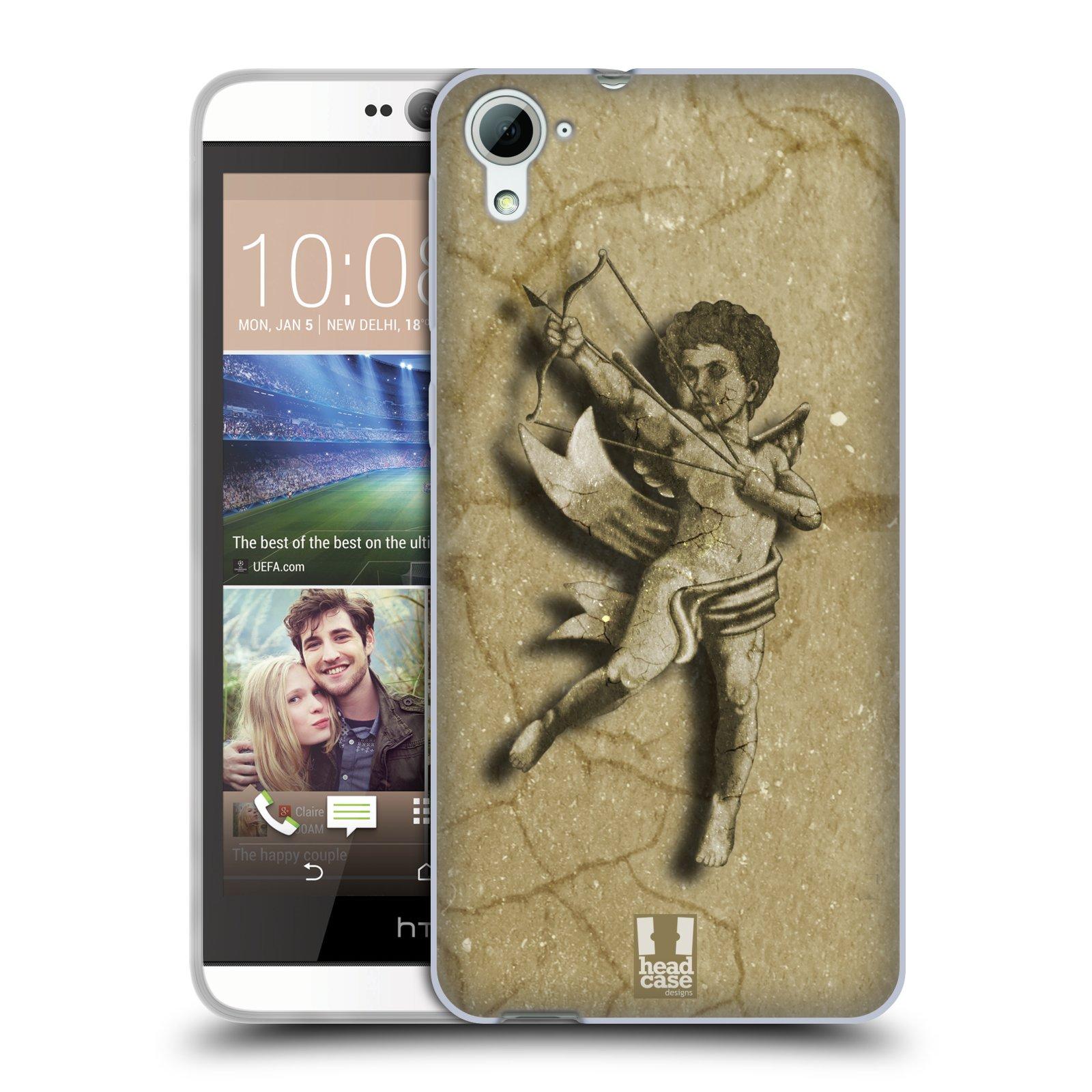 HEAD CASE silikonový obal na mobil HTC DESIRE 826 vzor Andělé z kamene LANCELOT