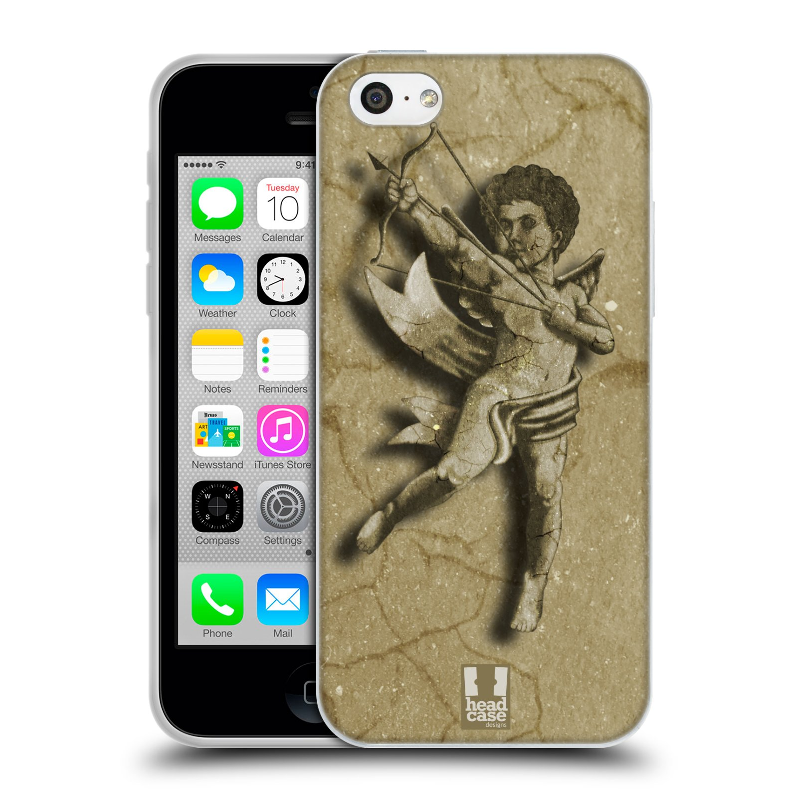 HEAD CASE silikonový obal na mobil Apple Iphone 5C vzor Andělé z kamene LANCELOT