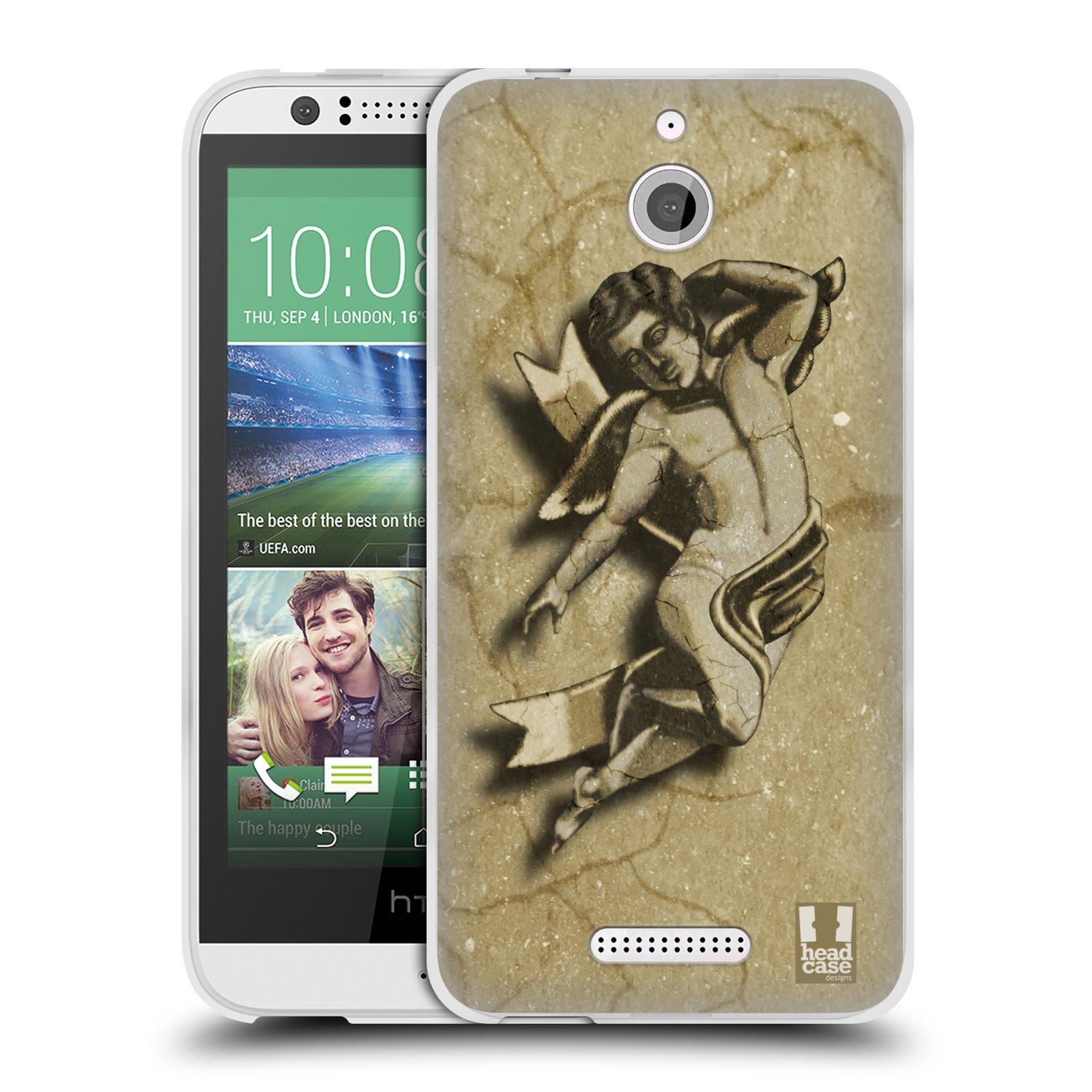 HEAD CASE silikonový obal HTC DESIRE 510 vzor Andělé z kamene LAYLAND